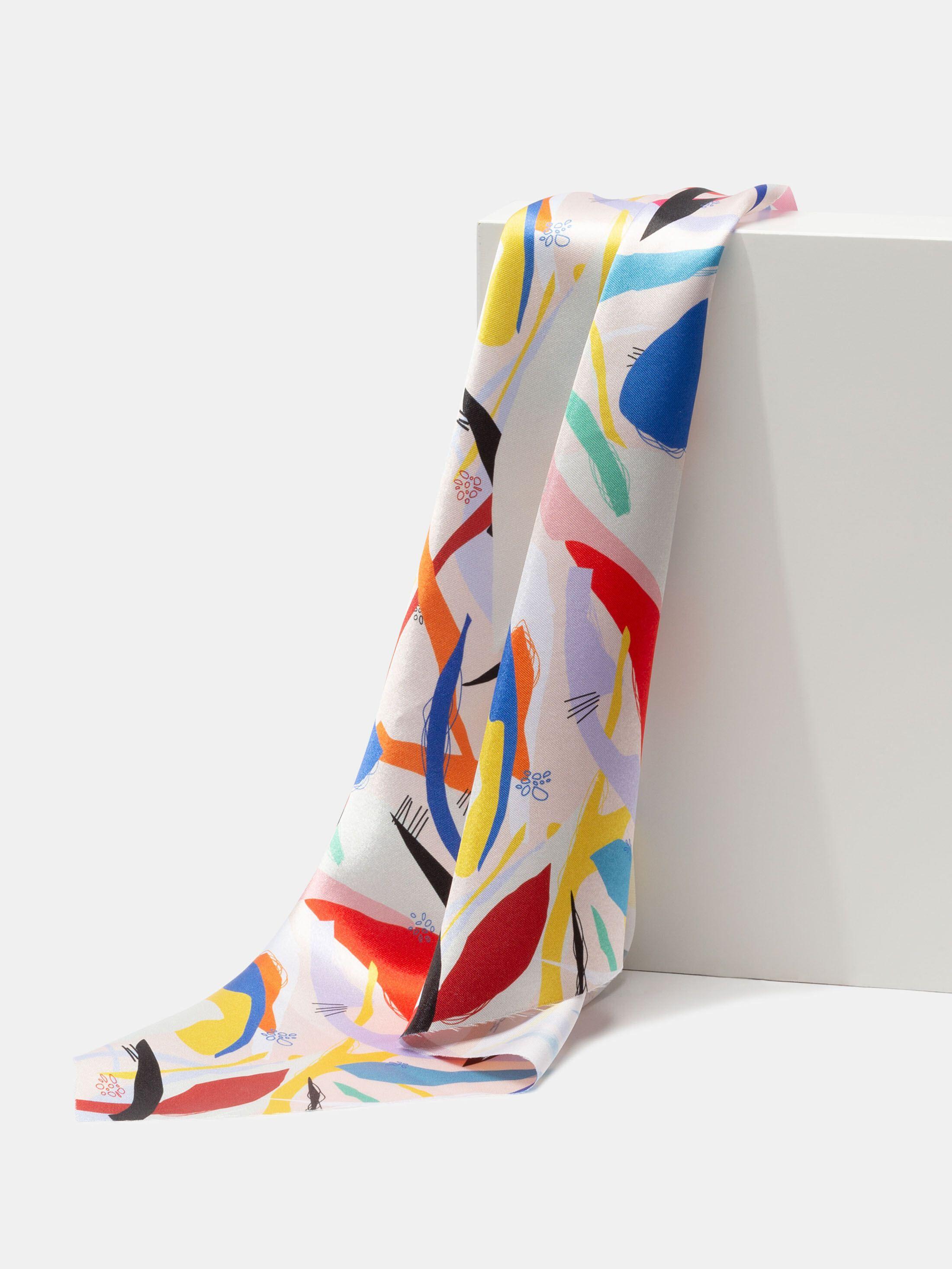 print Lucent Satin fabric folds