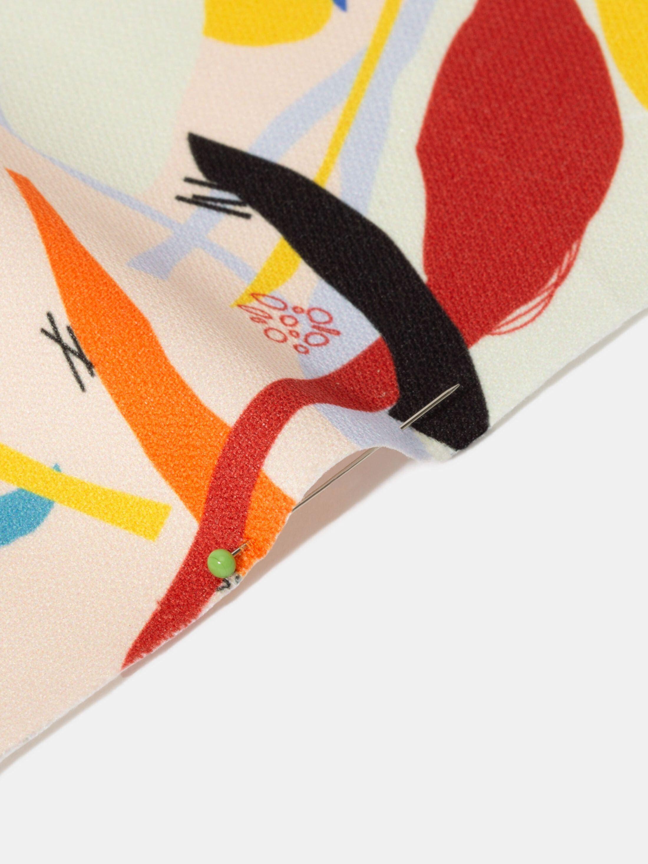 digital printing on Lima Cotton Twill fabric