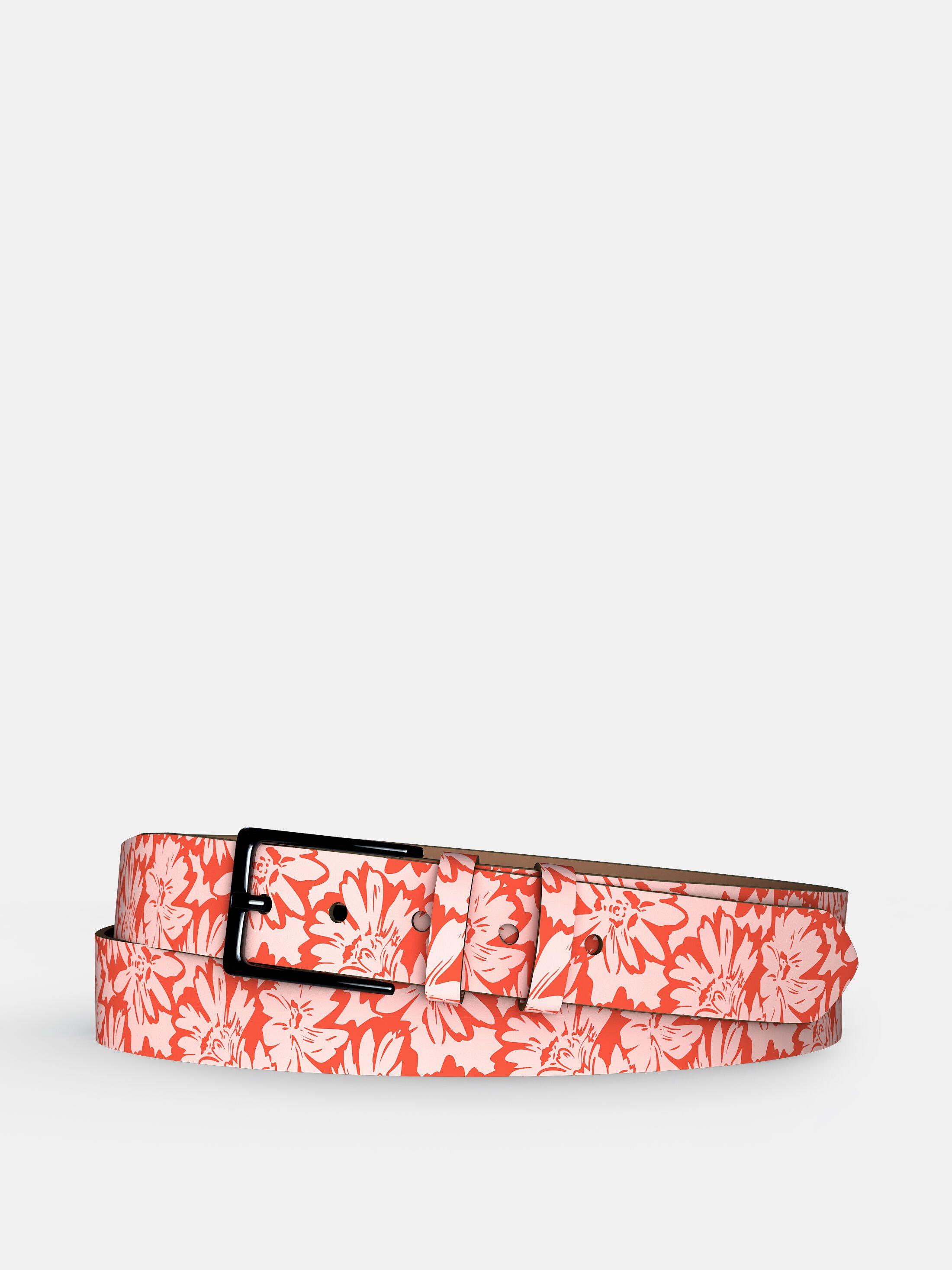 custom printed leather belt