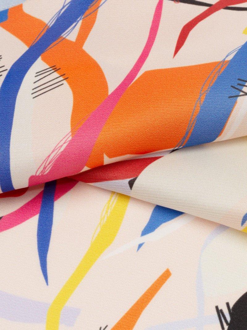 custom printed poly satin fabric