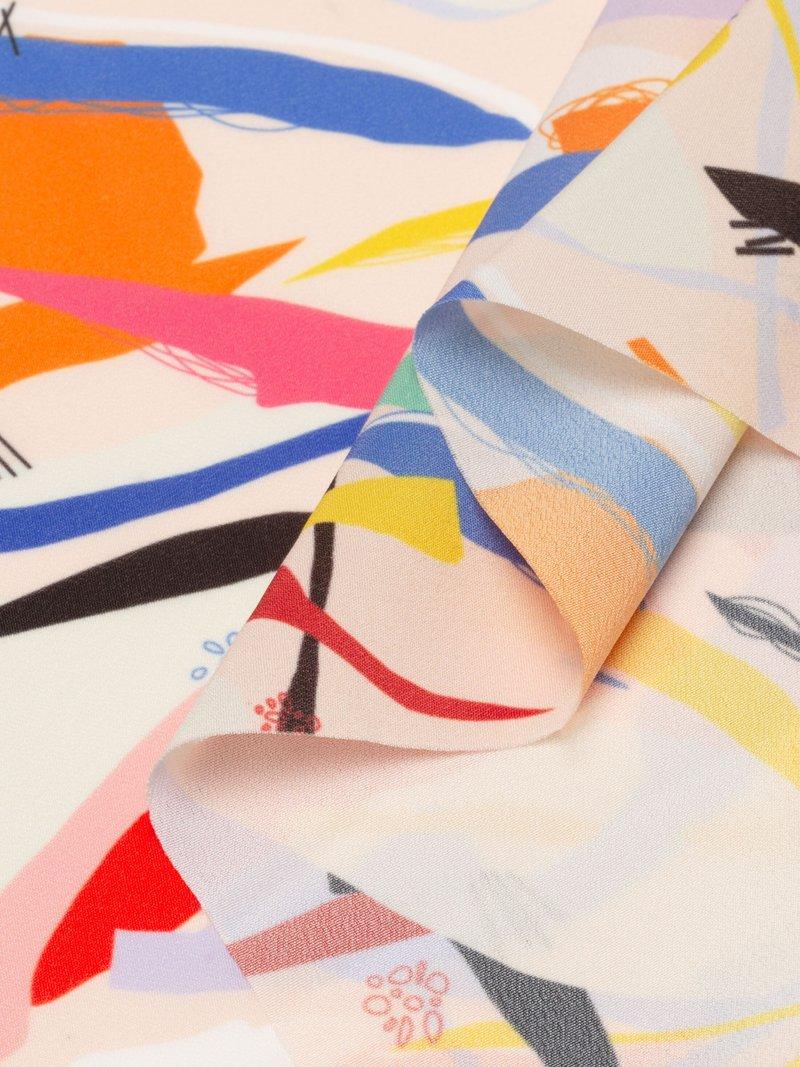 Crêpe de Chine stof glanzende print