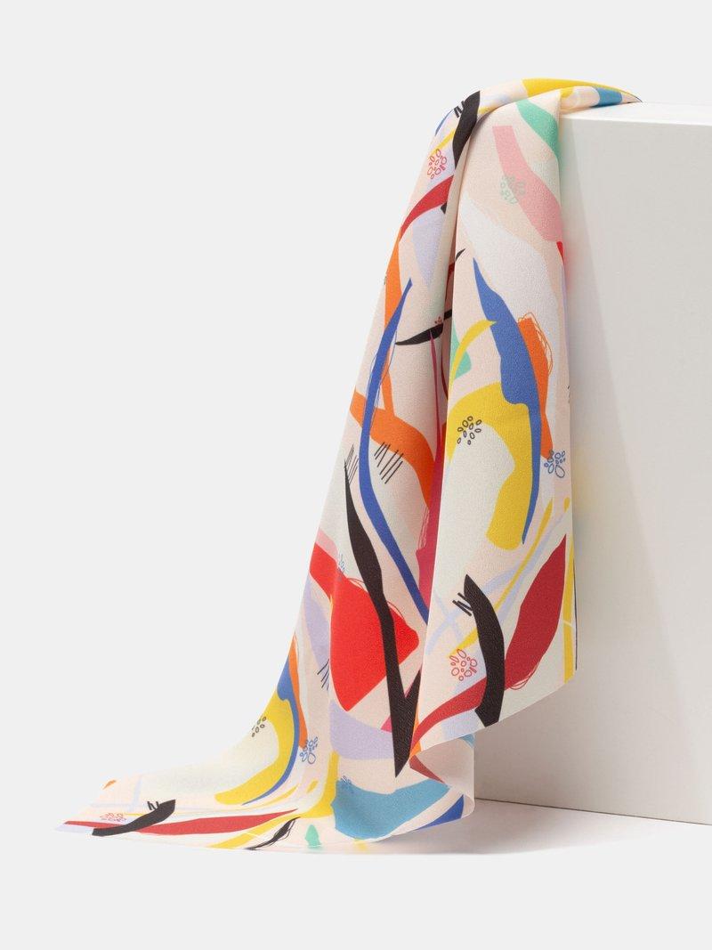 Shiny light custom Crepe de shine fabric design