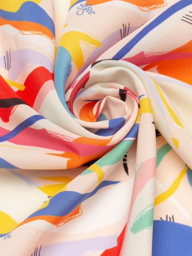 Design personalised Crepe de Chine fabric