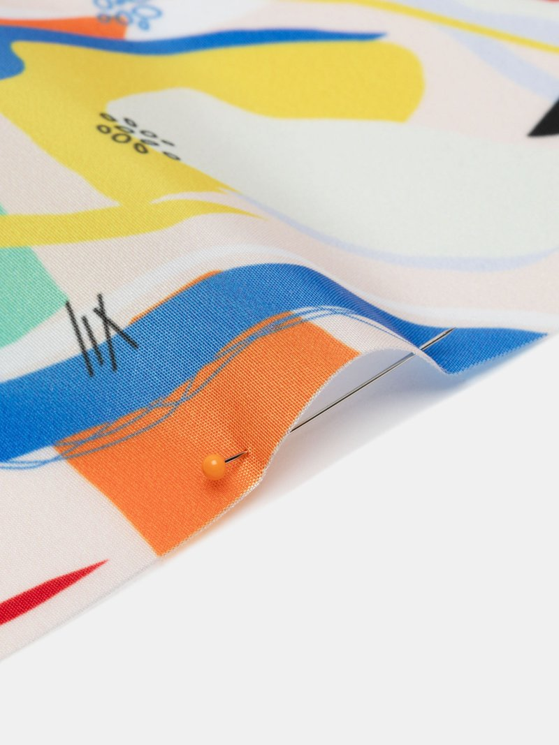 tafetán impreso por metros online