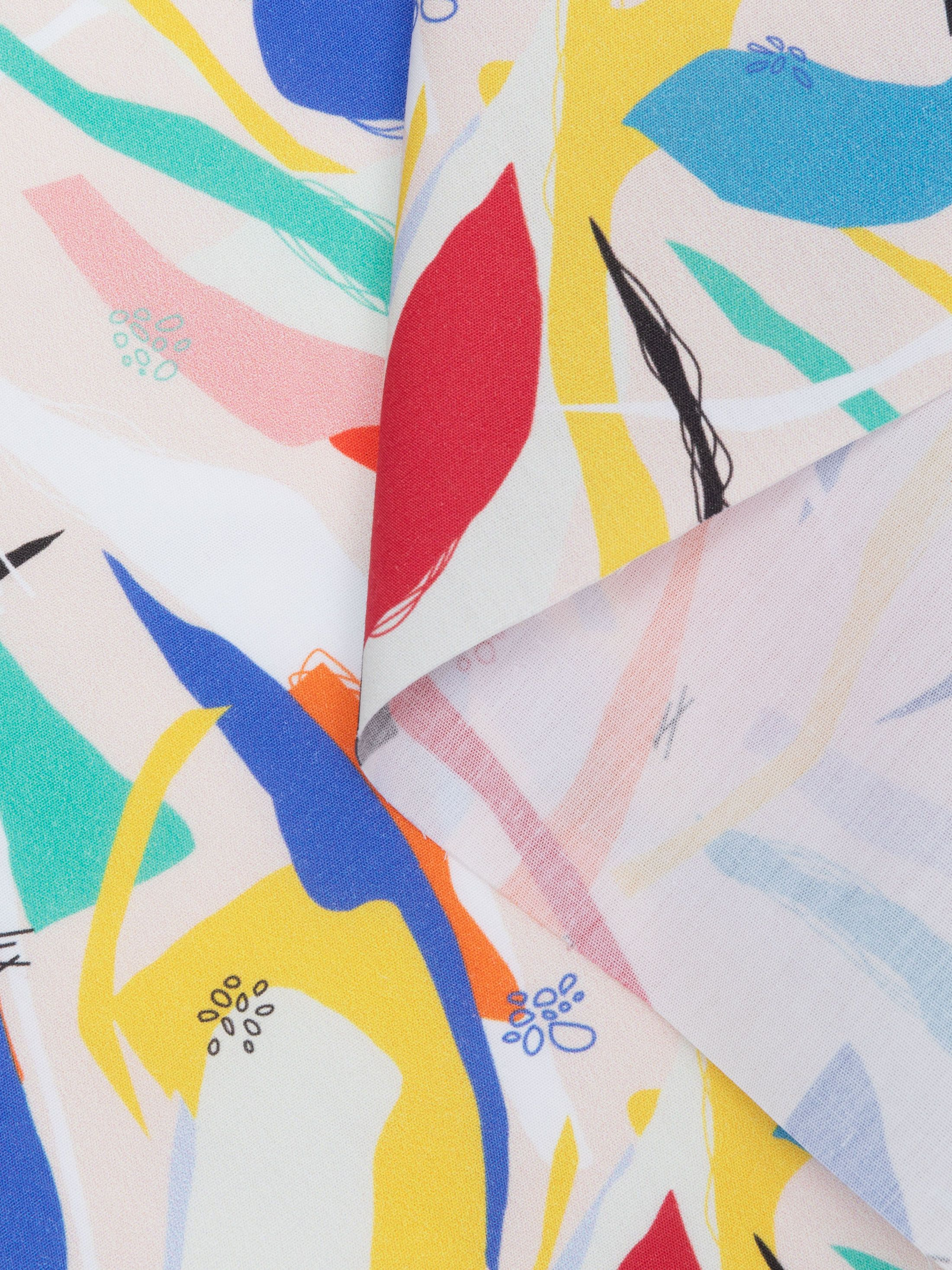 poplin printed cotton fabric US