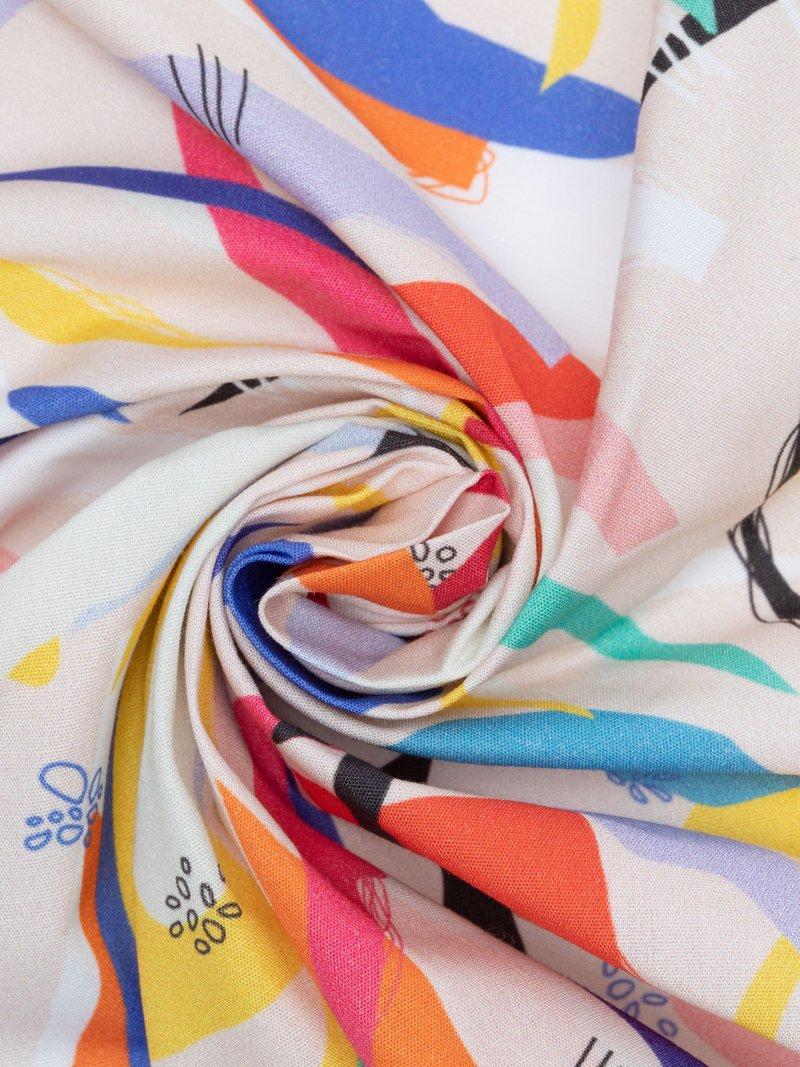 ホワイトベース ジャニス・コットン・ポプリン生地 布印刷