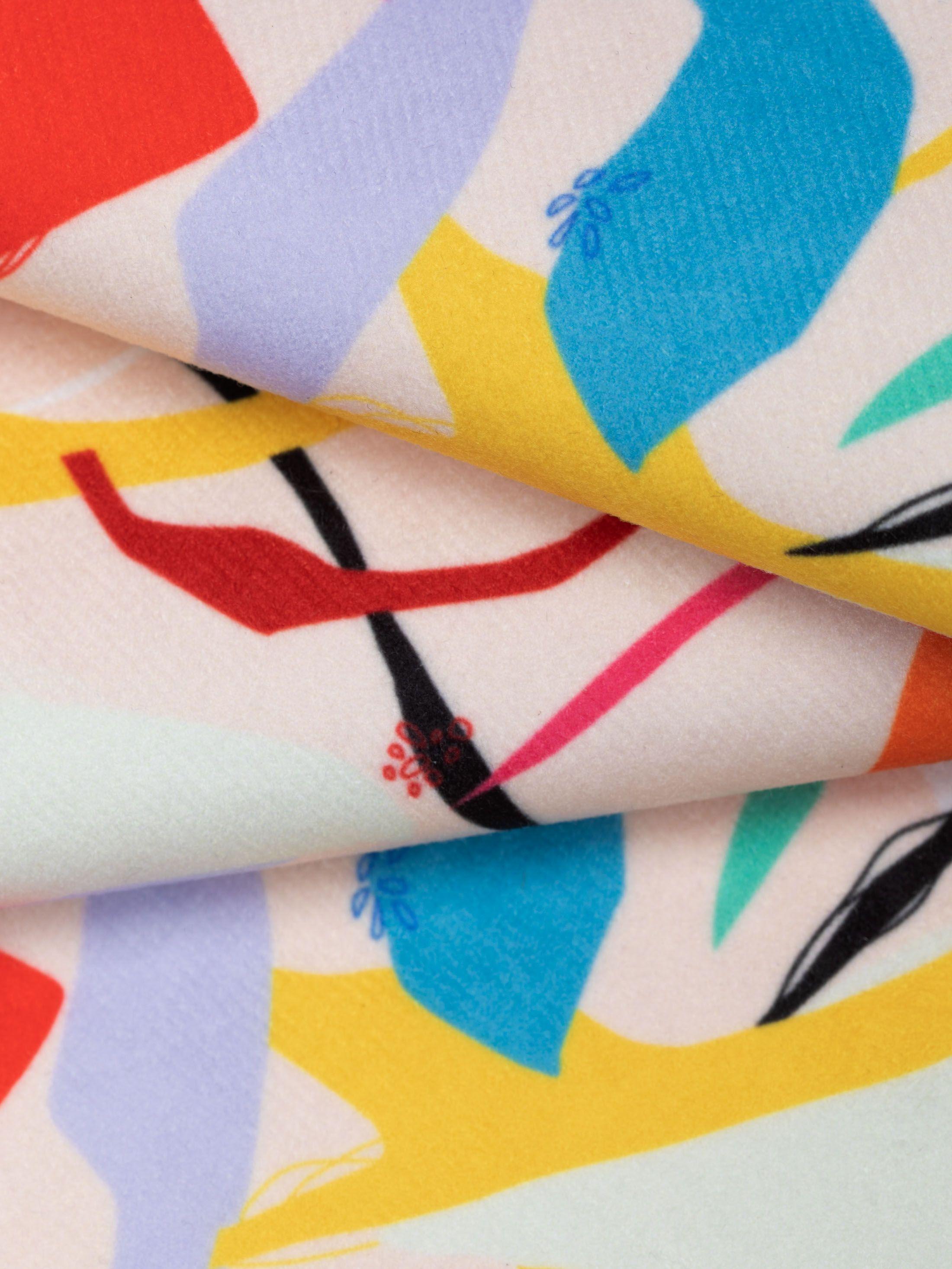 pin fabric custom Suede fabric printing