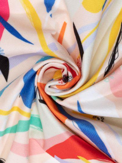 Fuskmocka mjuk textil med eget tryck