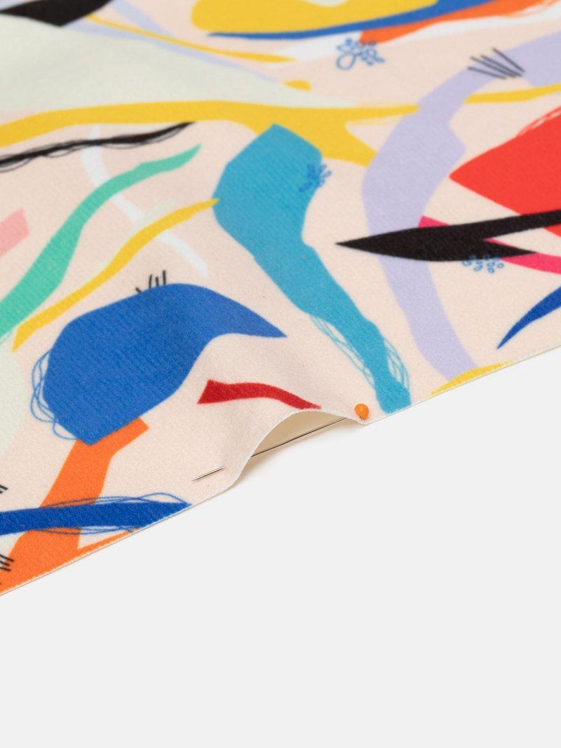 digital printing on Suede fabric fold