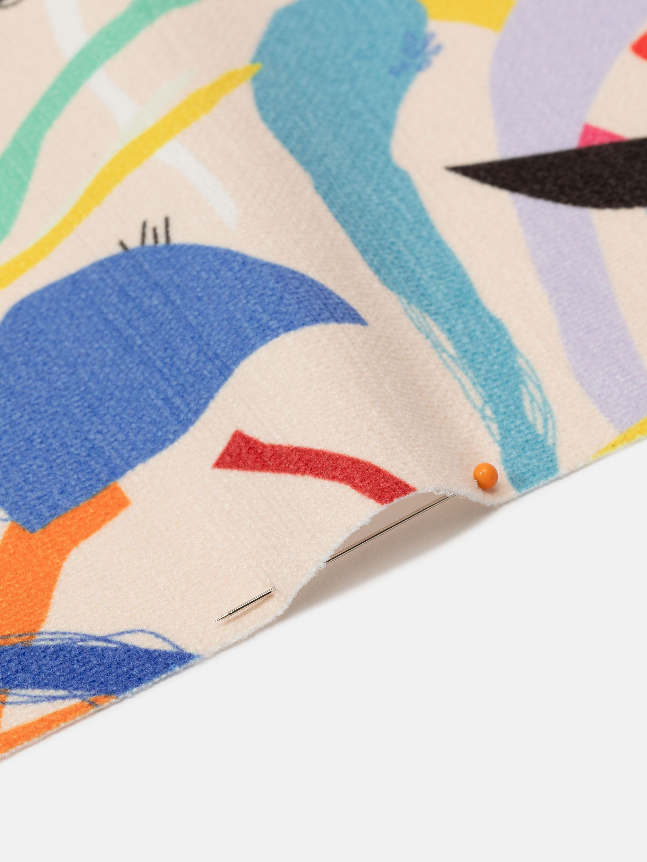 Chenille digital print fabric prints edging