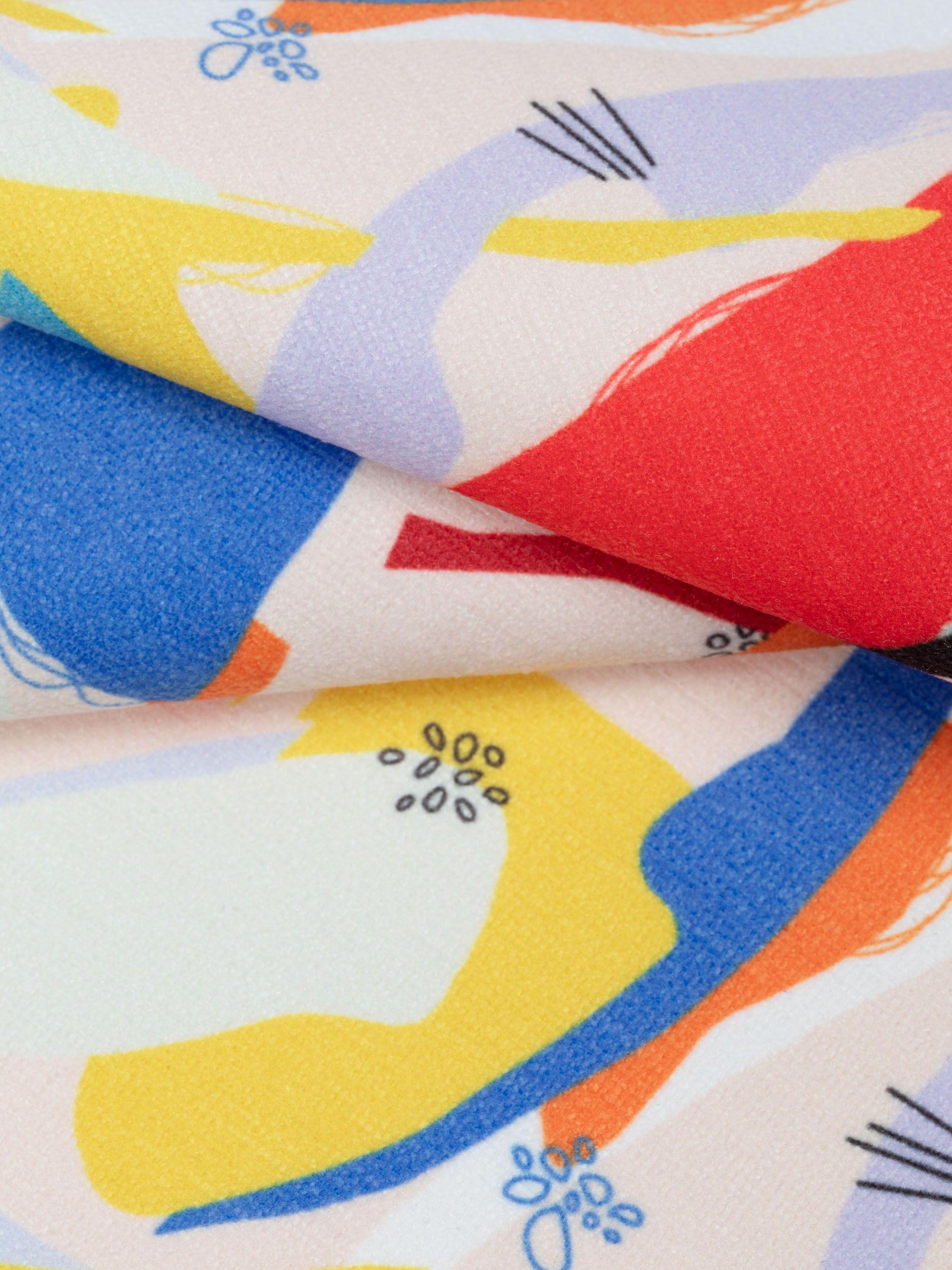 custom Chenille fabric reverse side detail