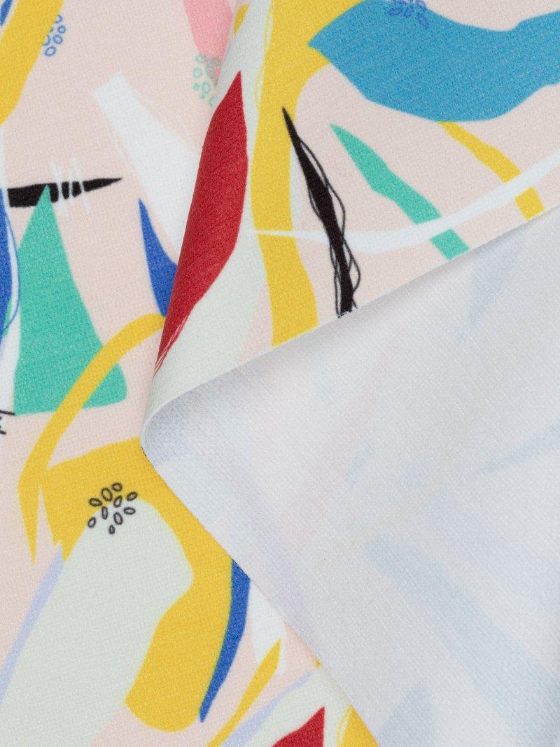 custom Chenille fabric printing swirl