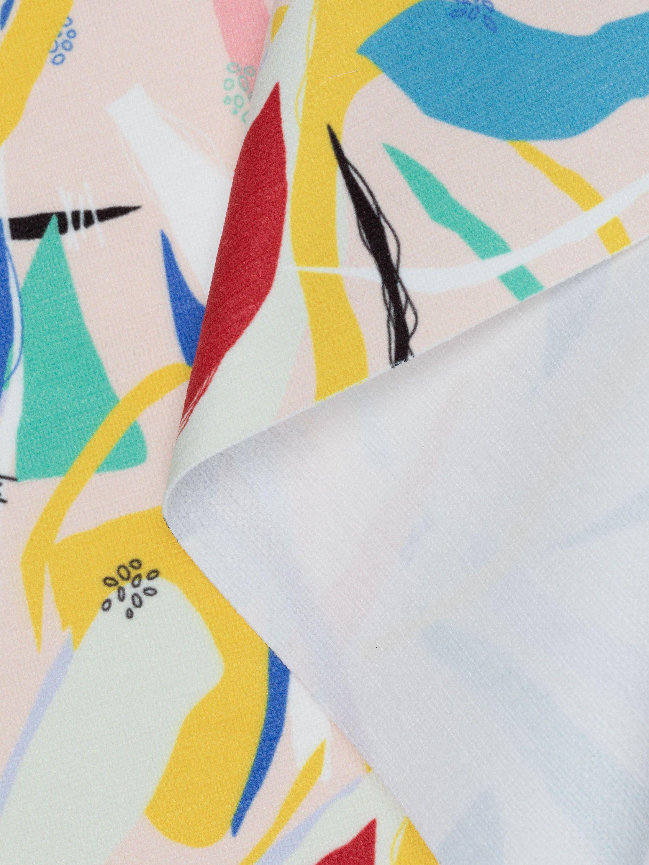 gepersonaliseerde Chenille stof met print swirl