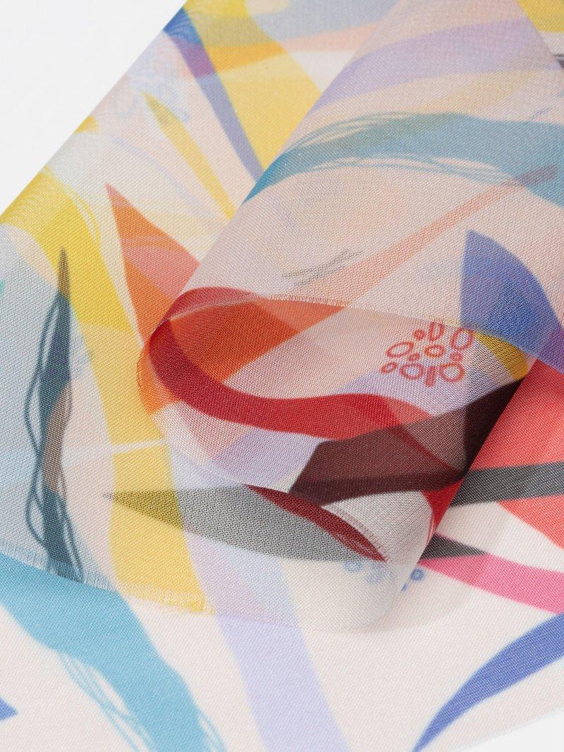 Textiltryck på chiffong textil
