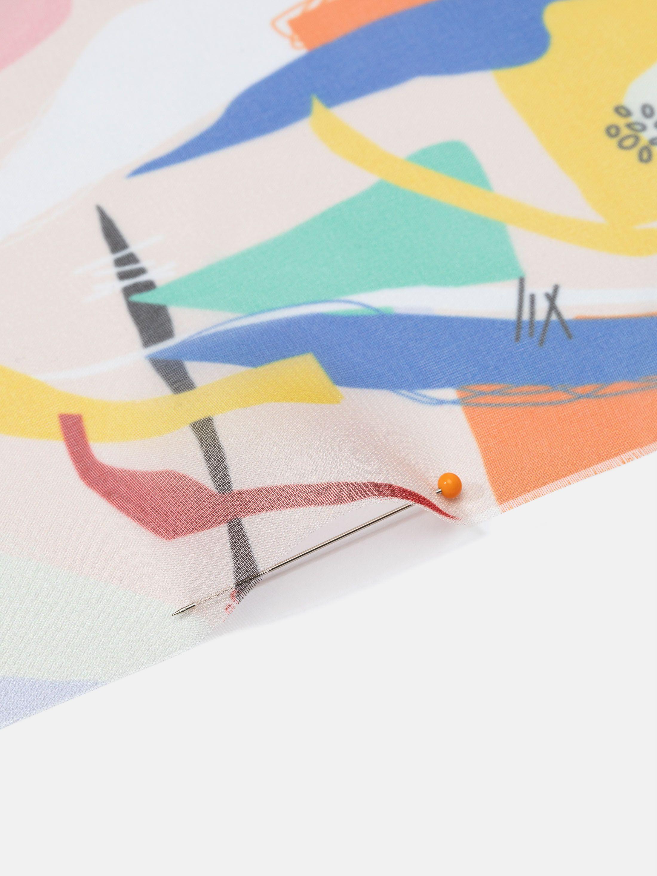 Paris Chiffon digital print fabric