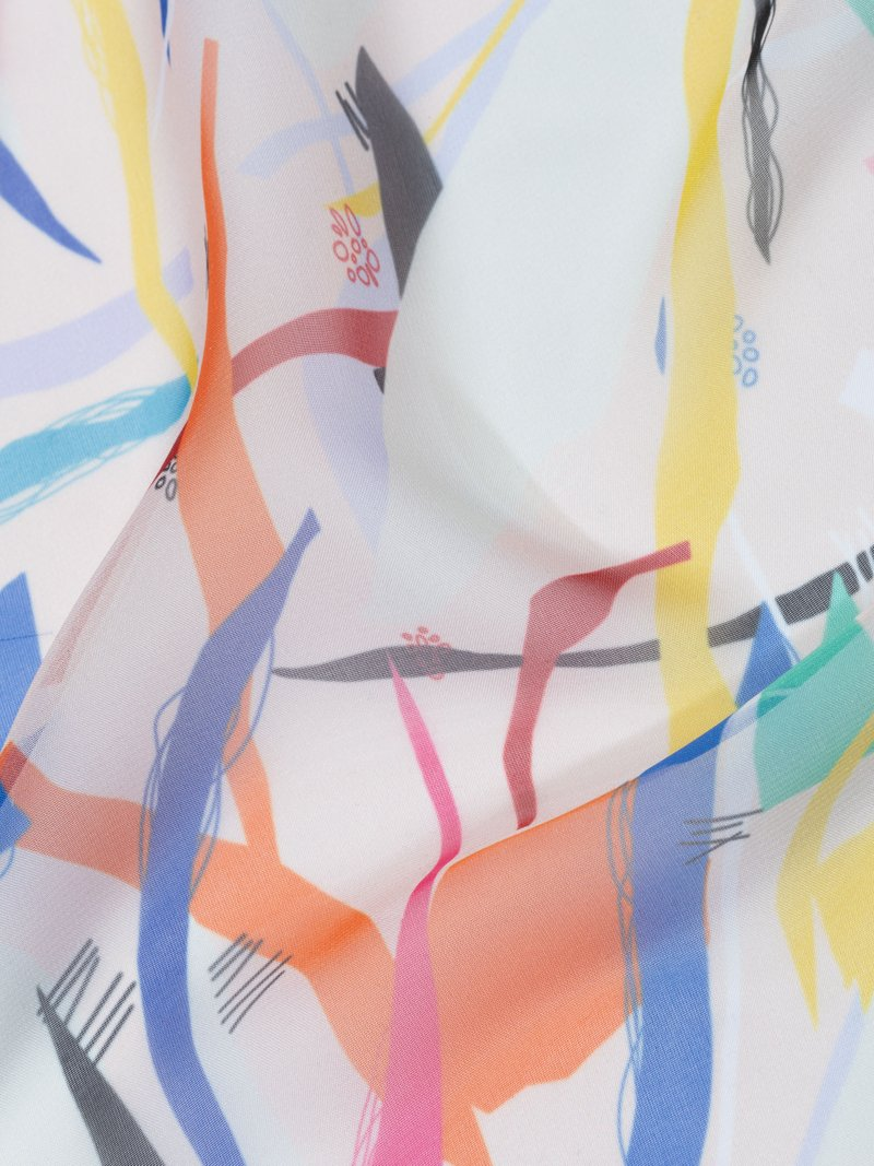 digital printing on Paris Chiffon