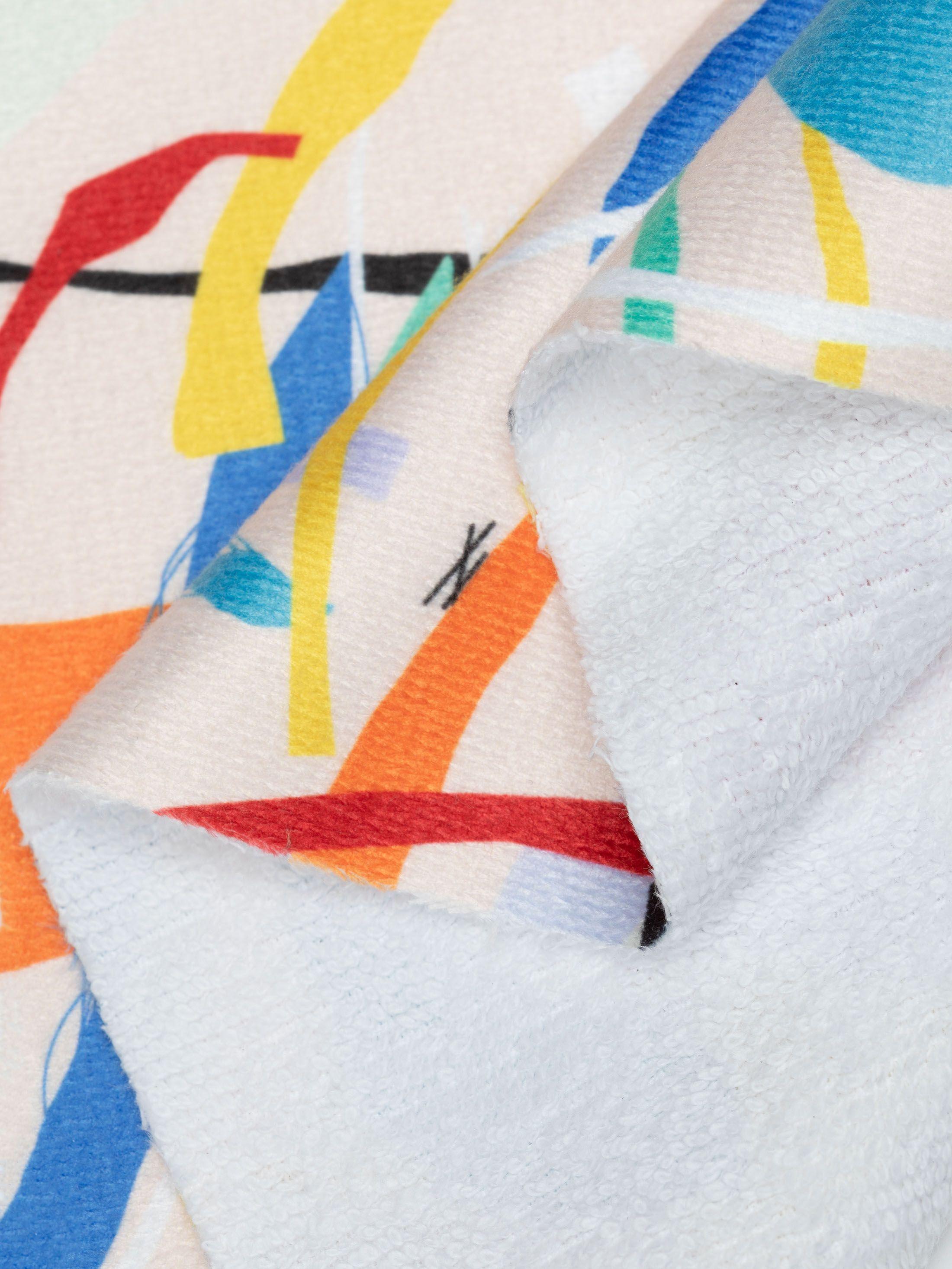 Towelling digital print fabric