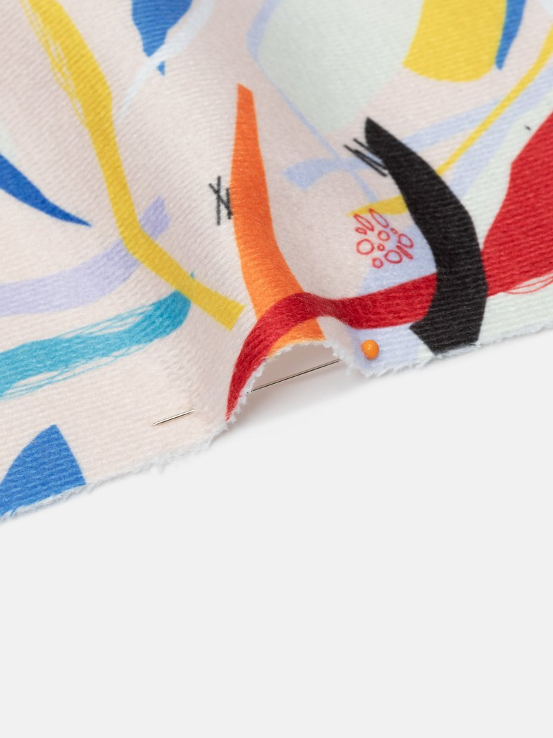 custom Towelling fabric samples printing edge options