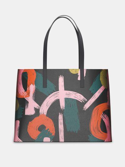 custom leather tote bag