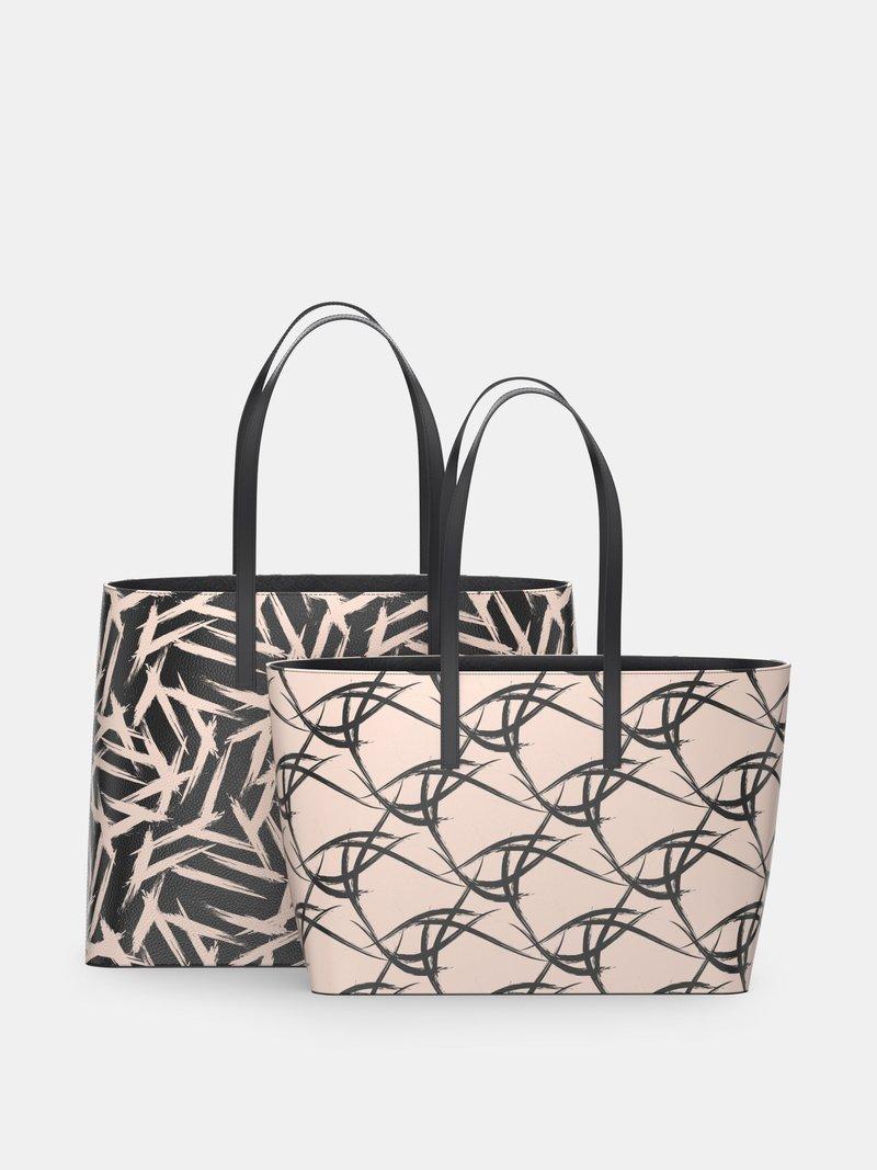Due misure borse tote personalizzate