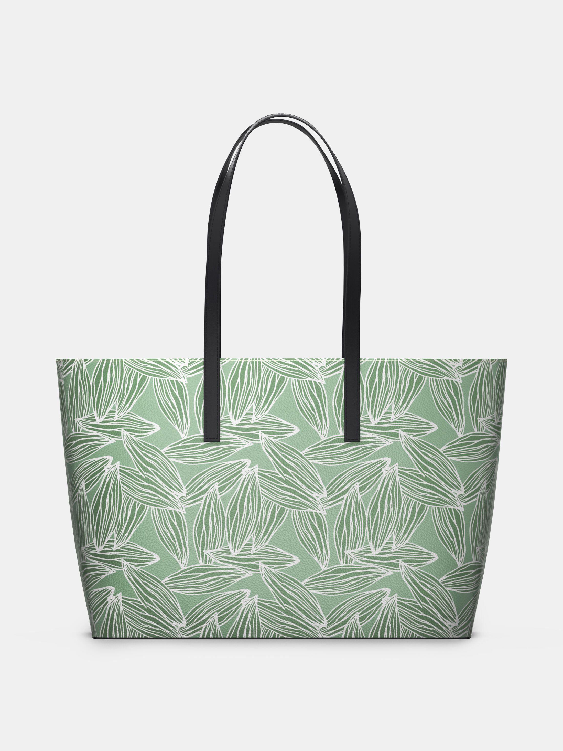 custom leather Kika tote bag