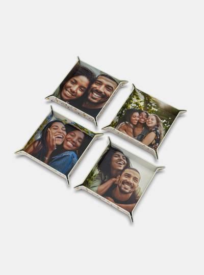 bandeja divisoria cuero fotos personalizada