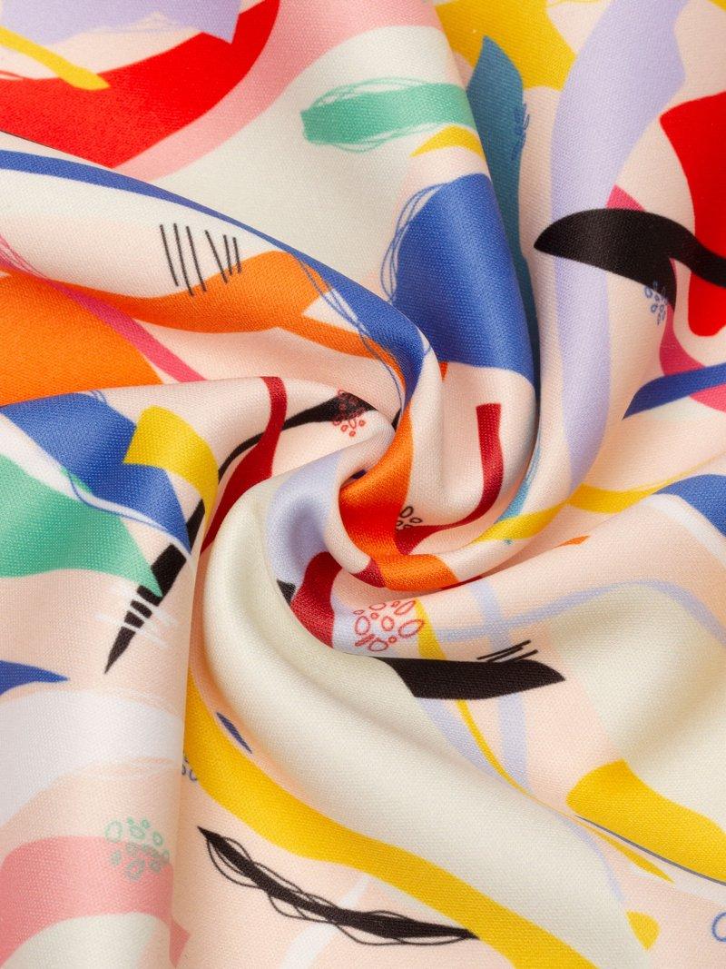 Custom printed softshell fabric