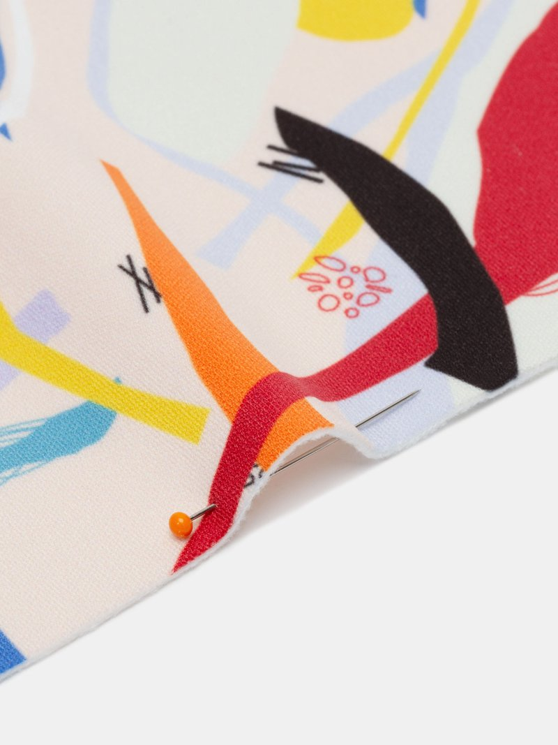 Swatch pack sample of custom printed softshell fabric