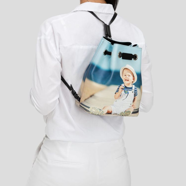 printed Drawstring Backpack