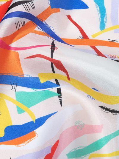 Impression printed Silk fabric