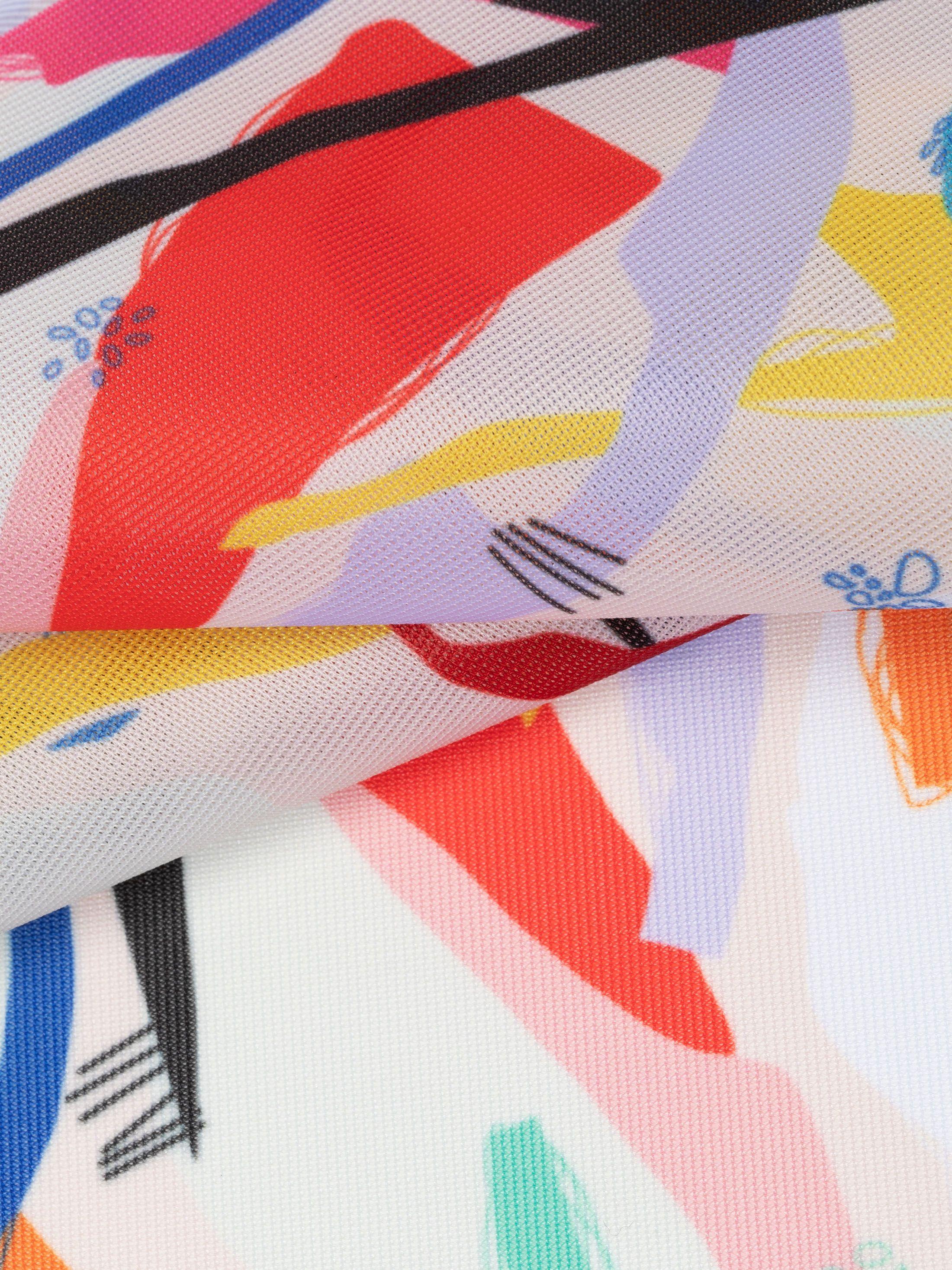 digital printing on Voille De Ville samples