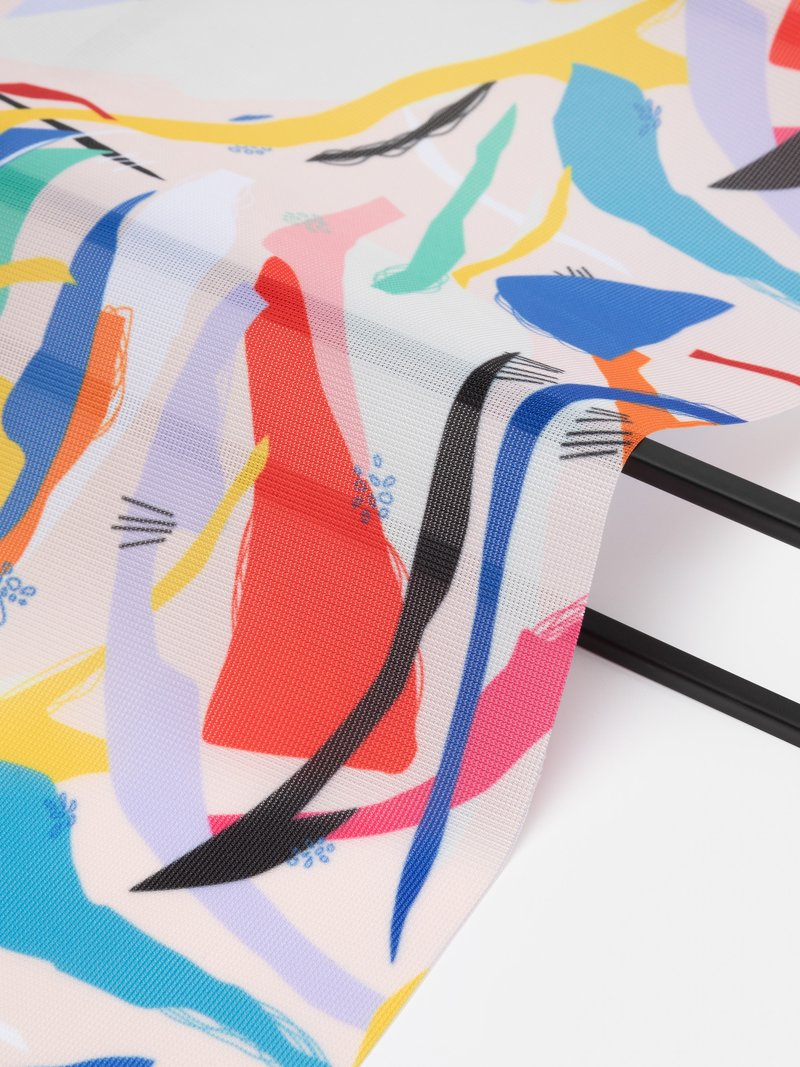 digital printing on Voille De Ville samples edge options