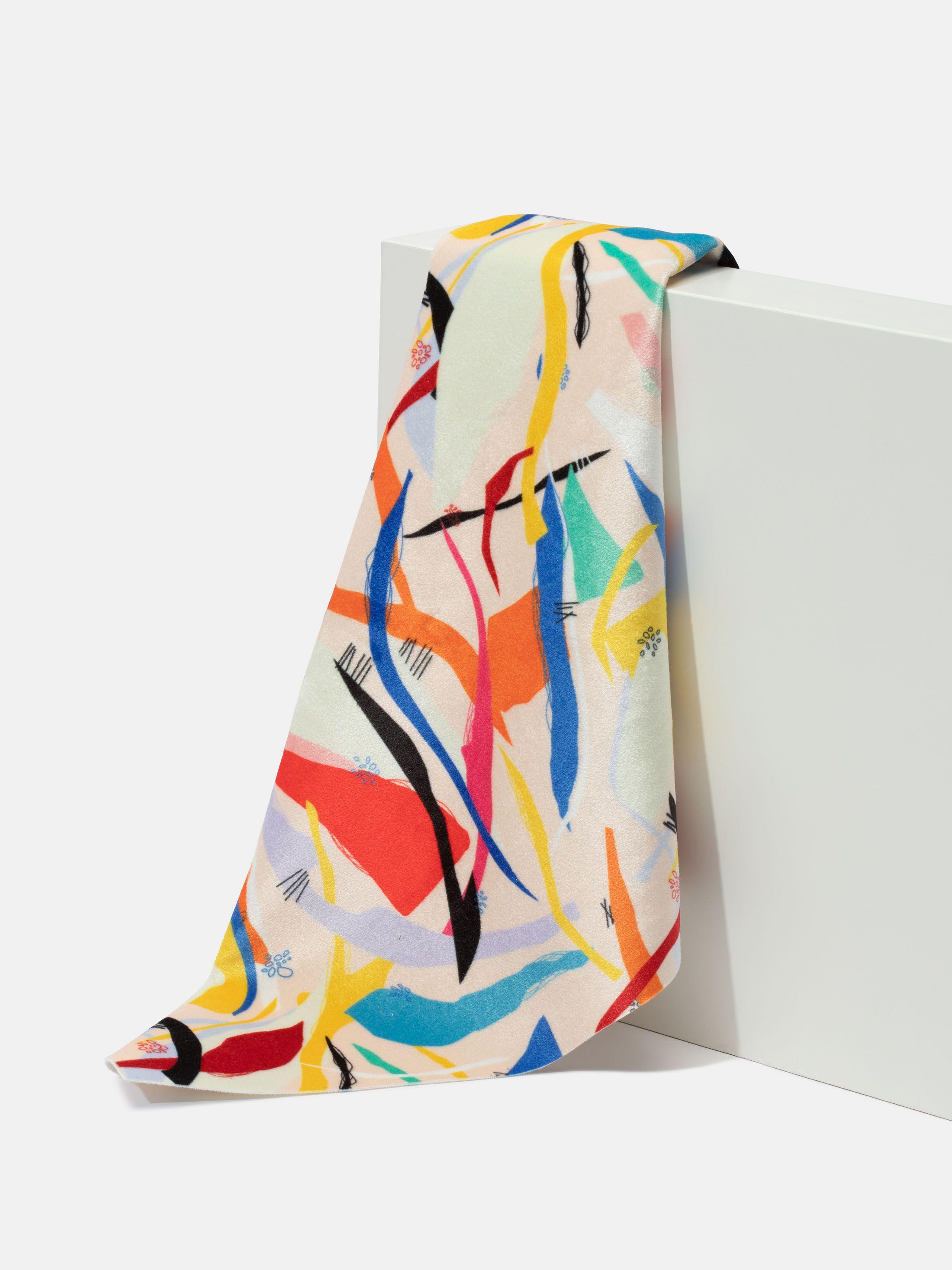 Tissu velours imprimé en couleur