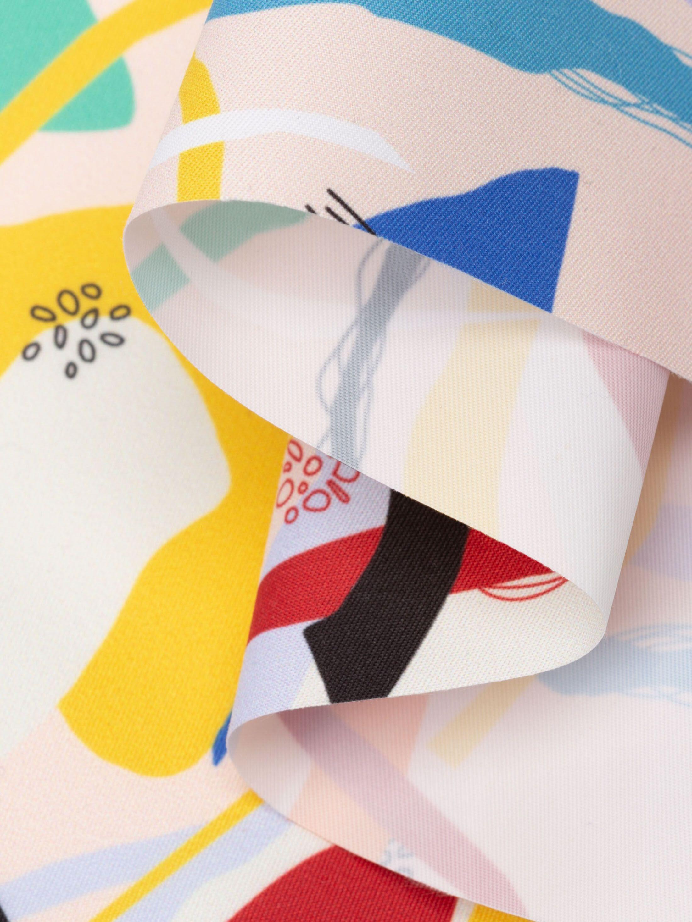 print Breathable Waterproof fabric folded small run