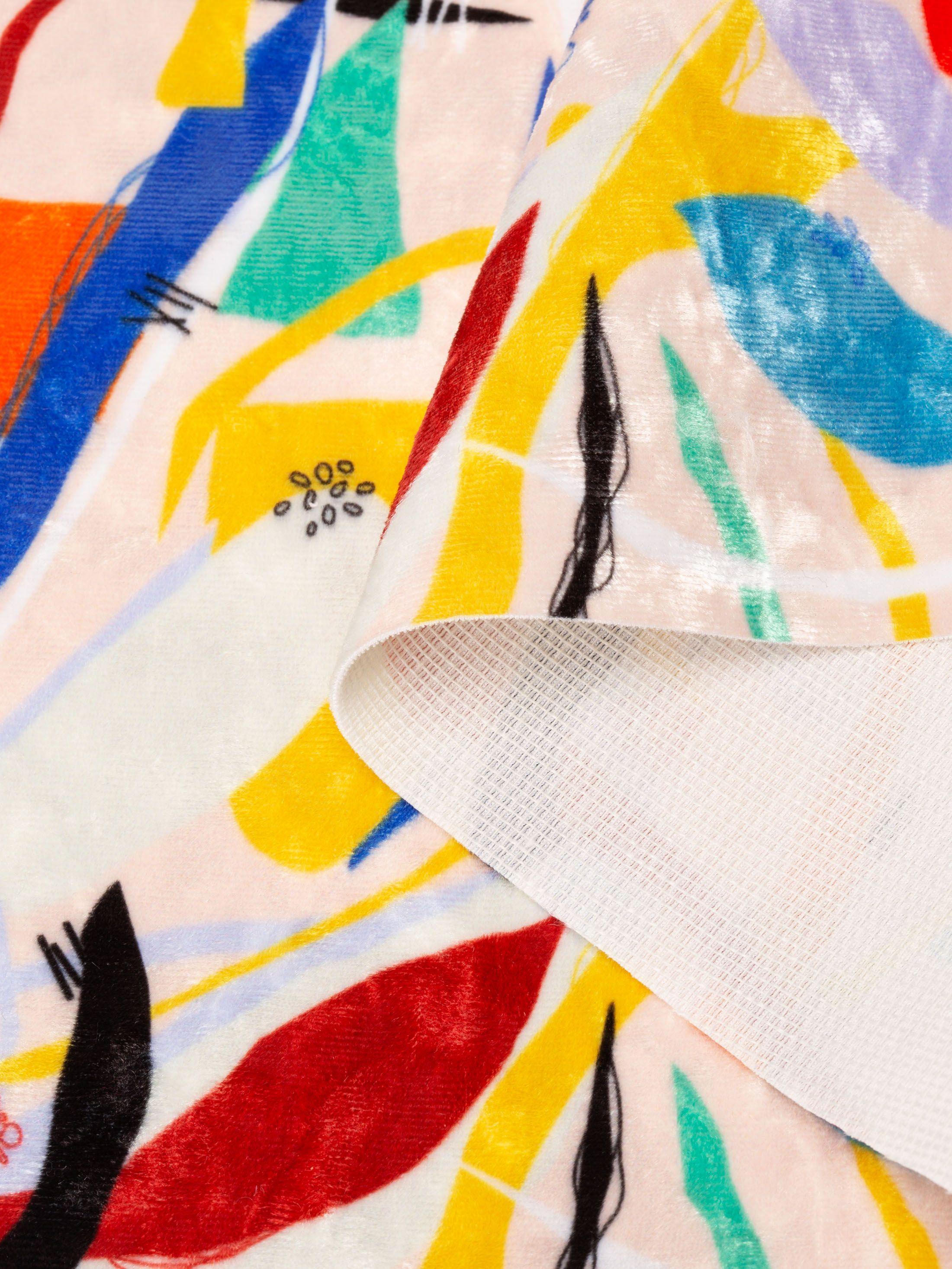Panne de velours marbrée pour projets de couture