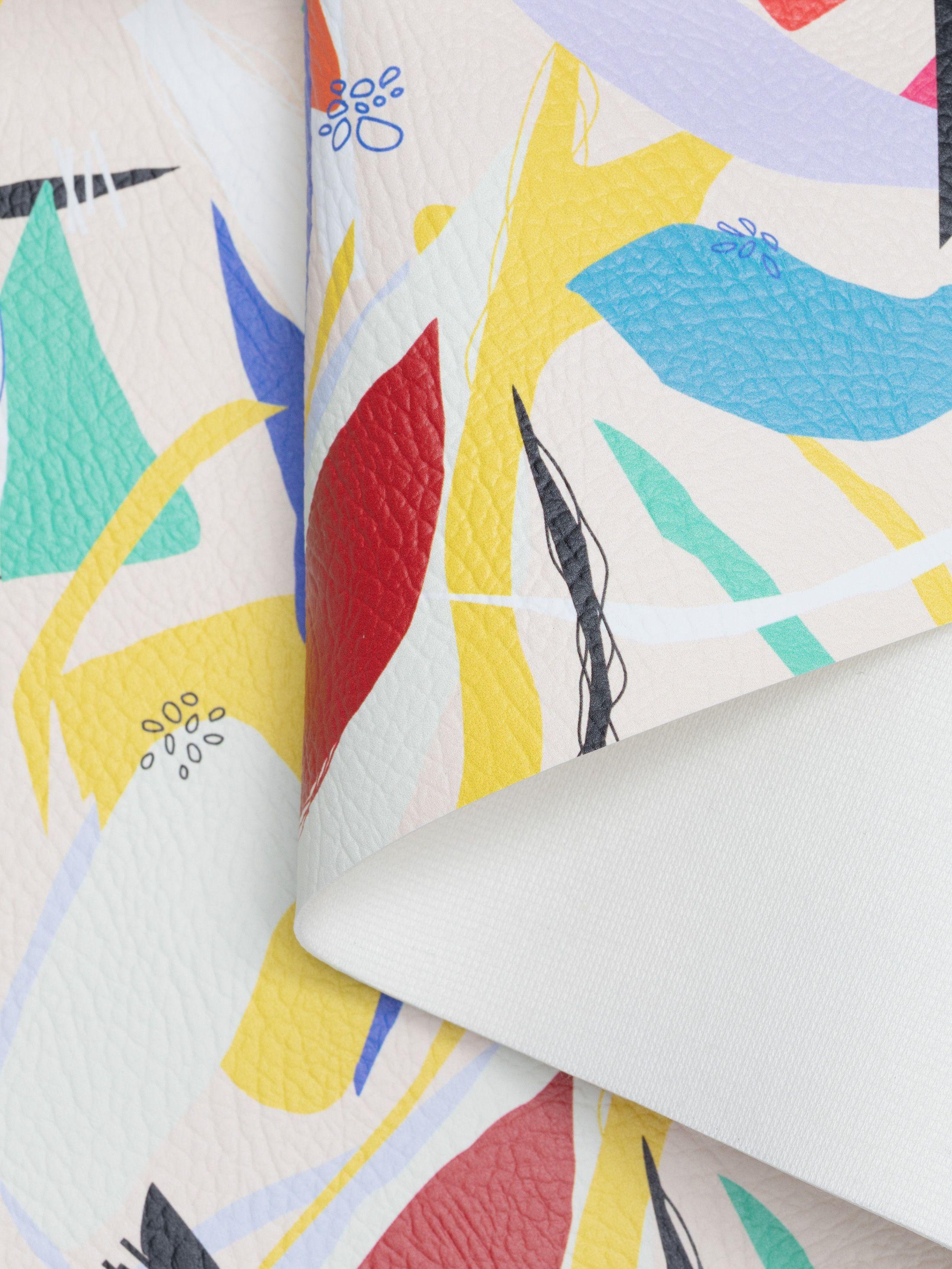 printed leatherette fabric