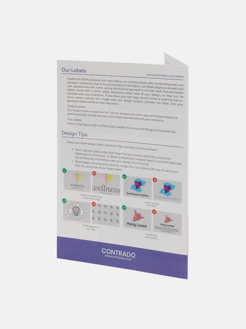 Färgschema tygetiketter med eget tryck