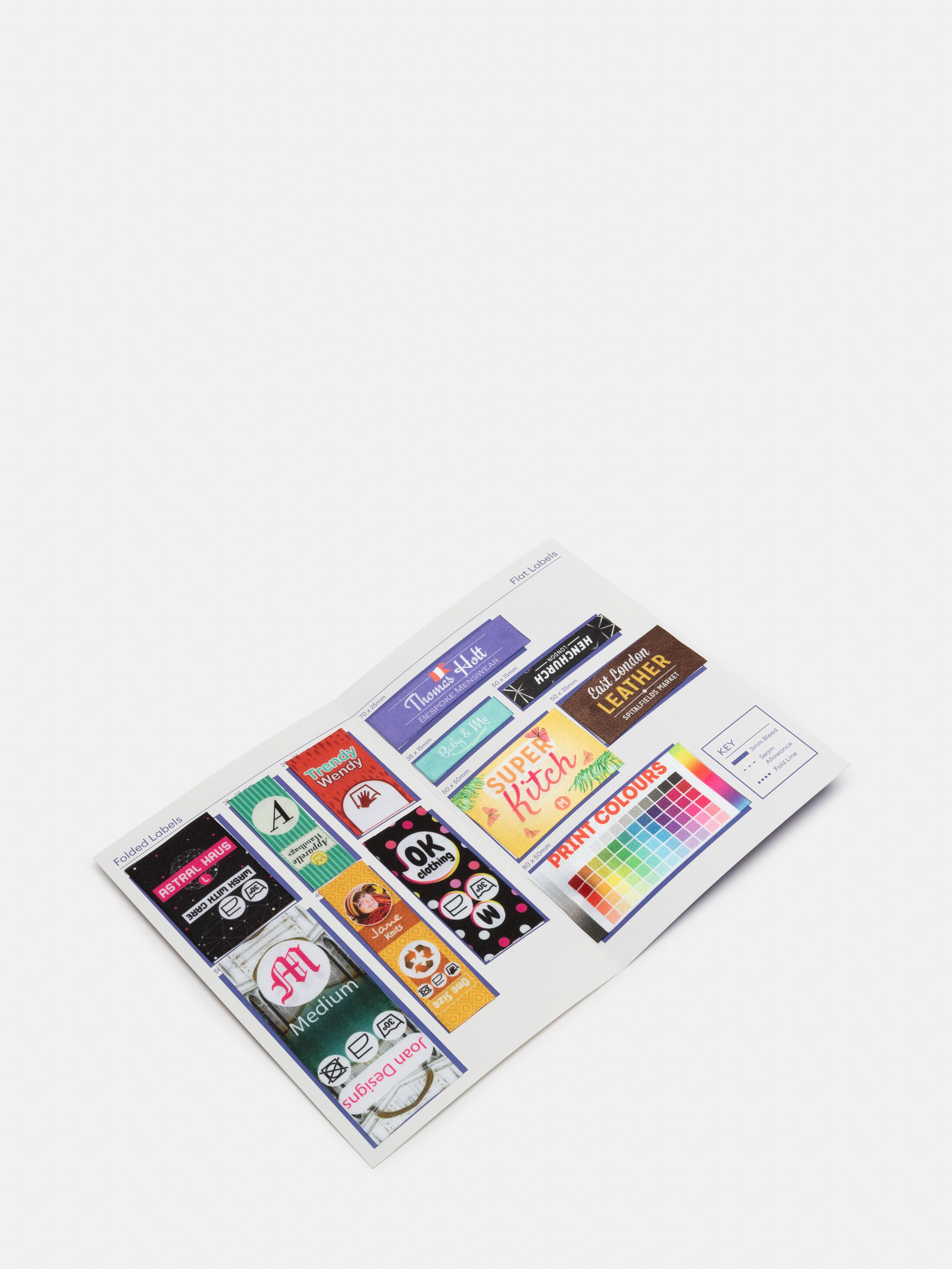 Fabric Label Samples