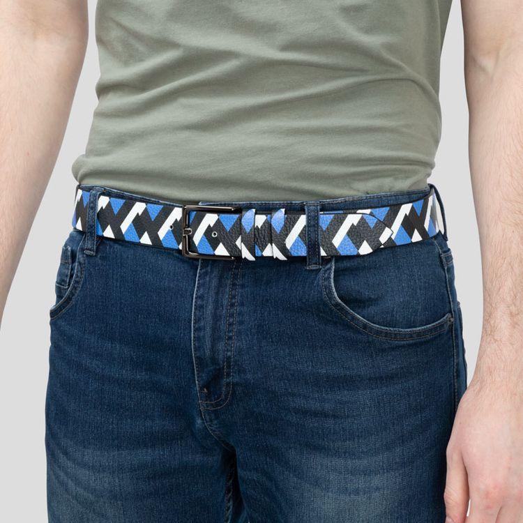 Leather belt model photo