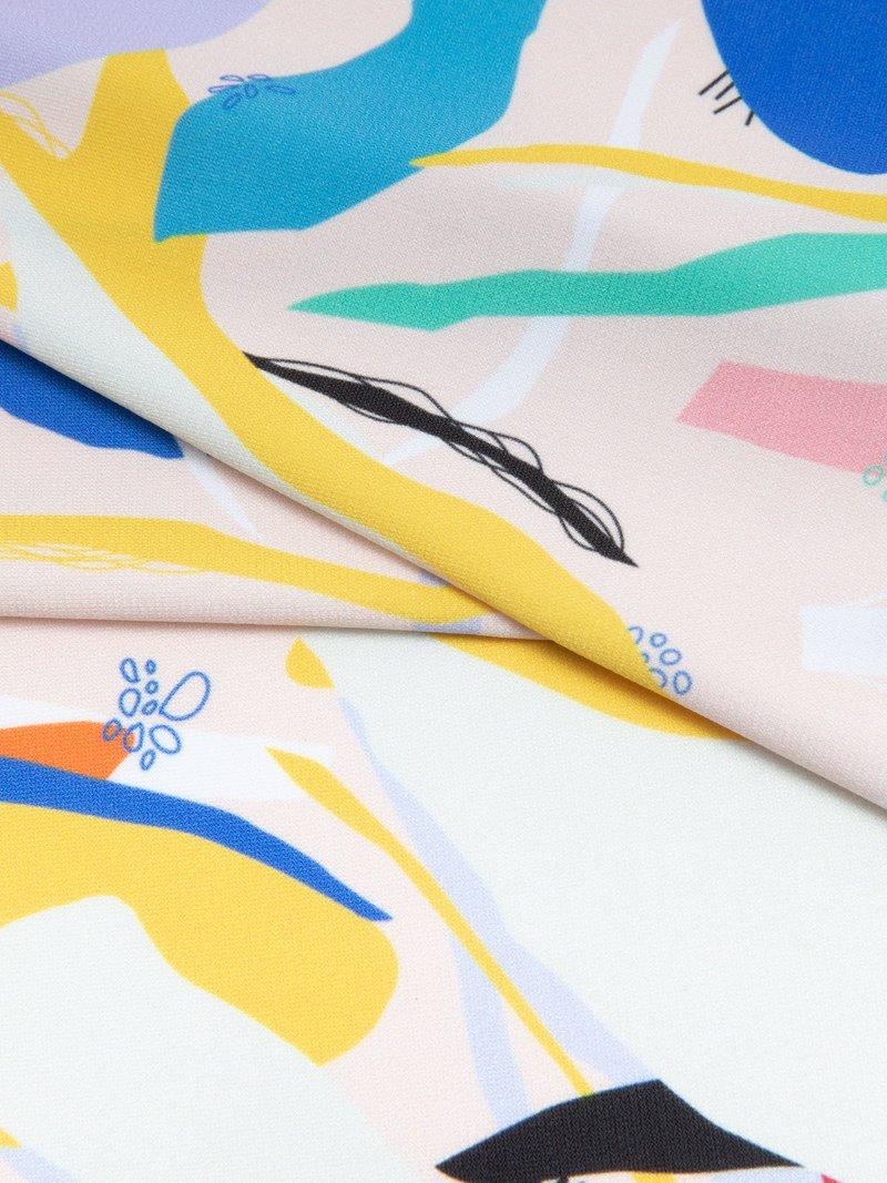 custom prints silky jersey