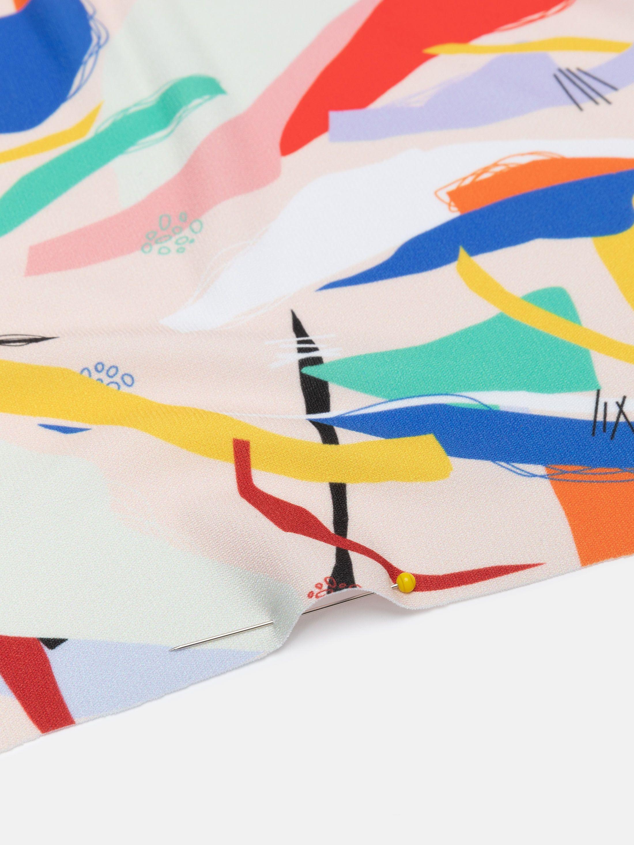 custom printed solange silky jersey