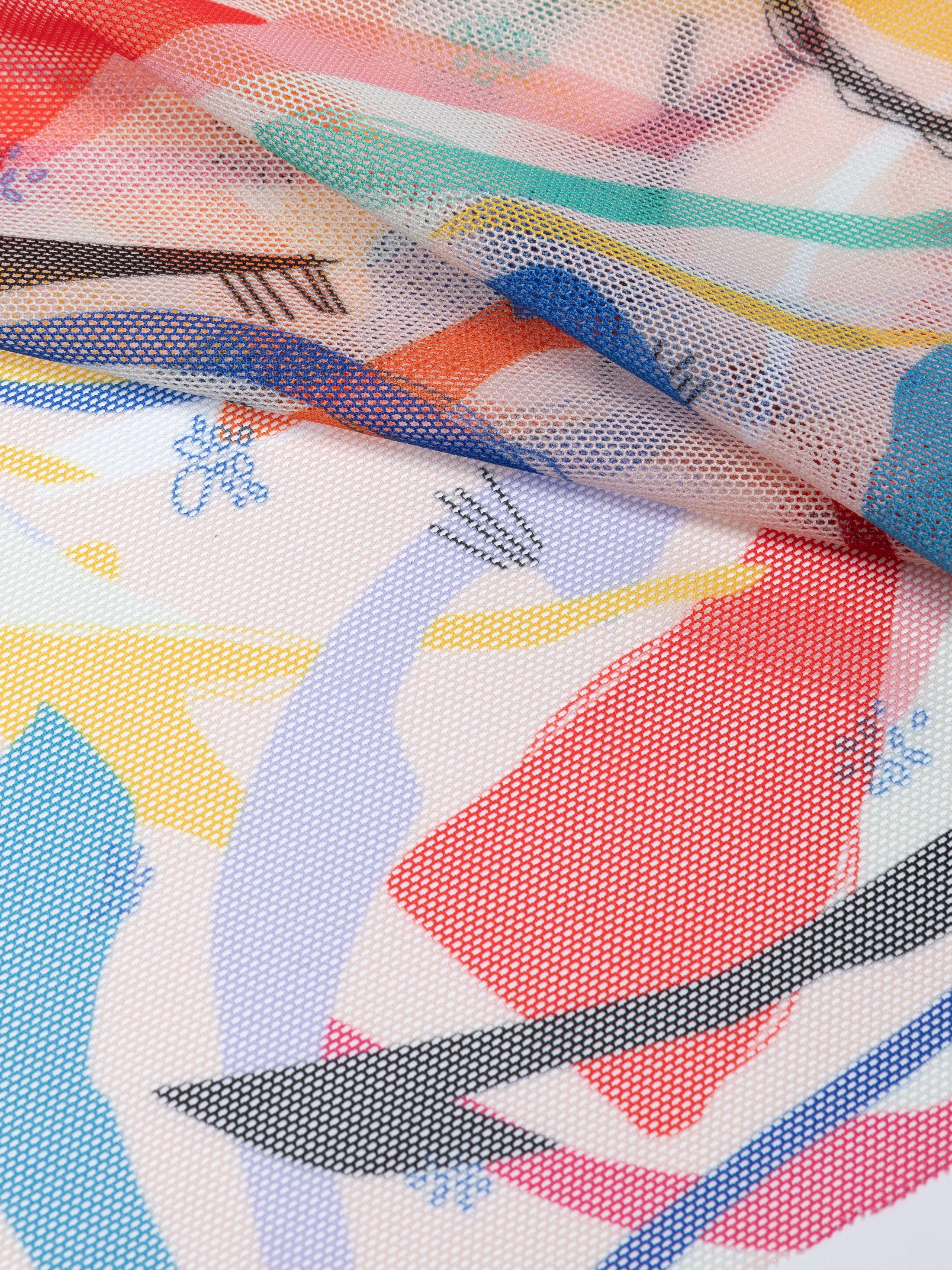 printing Florence Net fabric pleated fold
