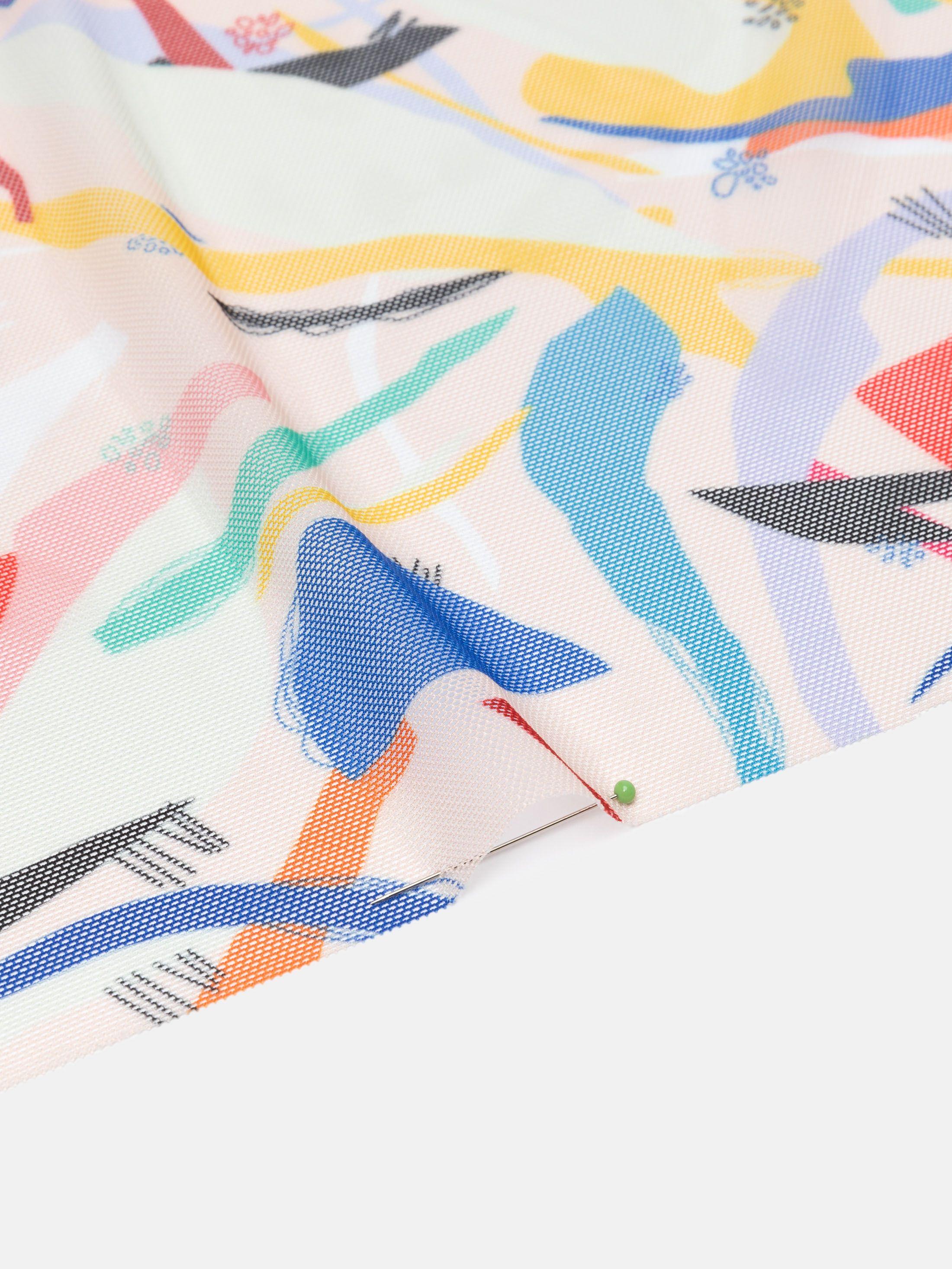 Printing on Florence Net Fabric transparent