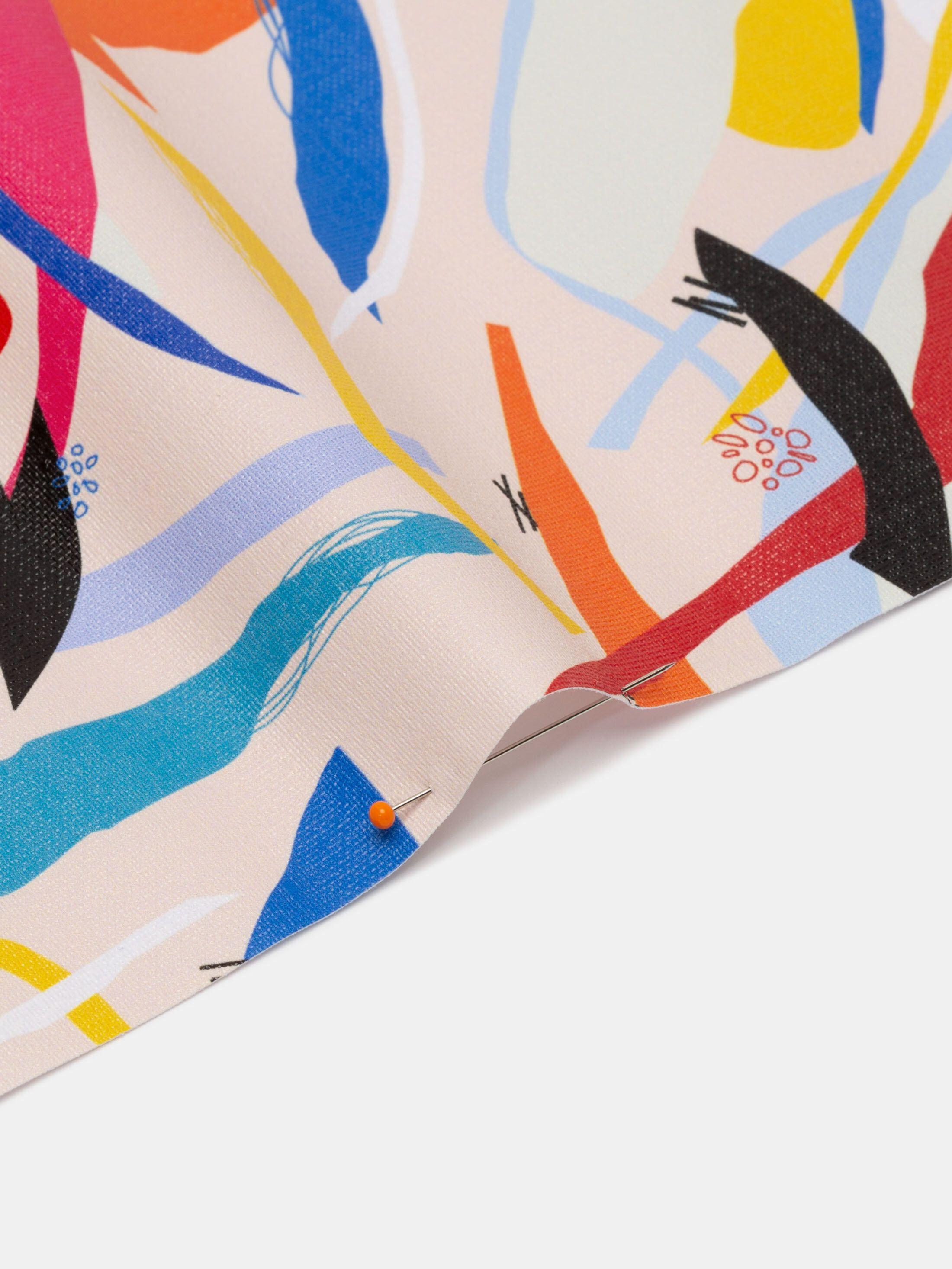 Stampa digitale su tessuto rigido semi-trasparente