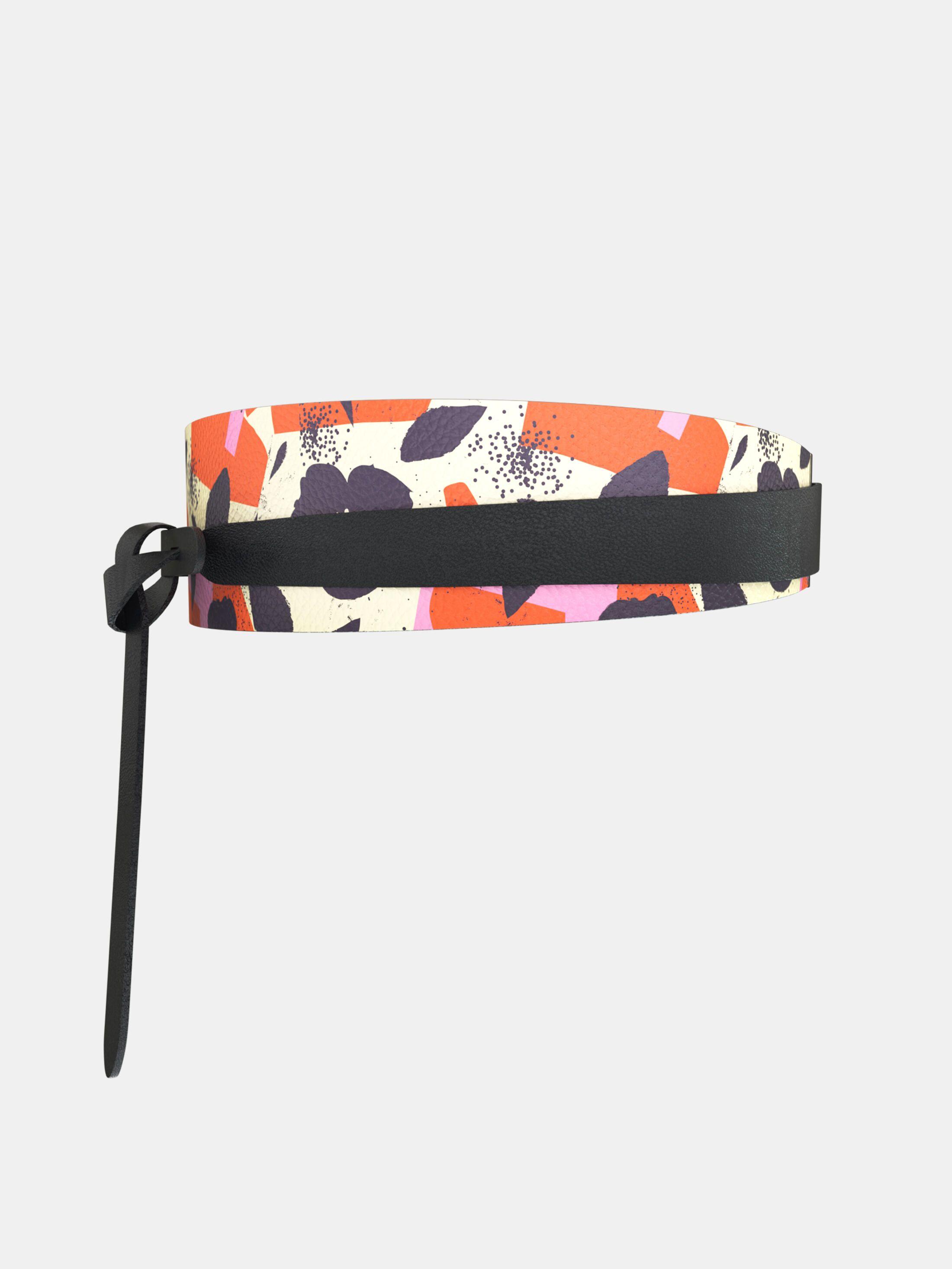 custom printed womens wrap belt
