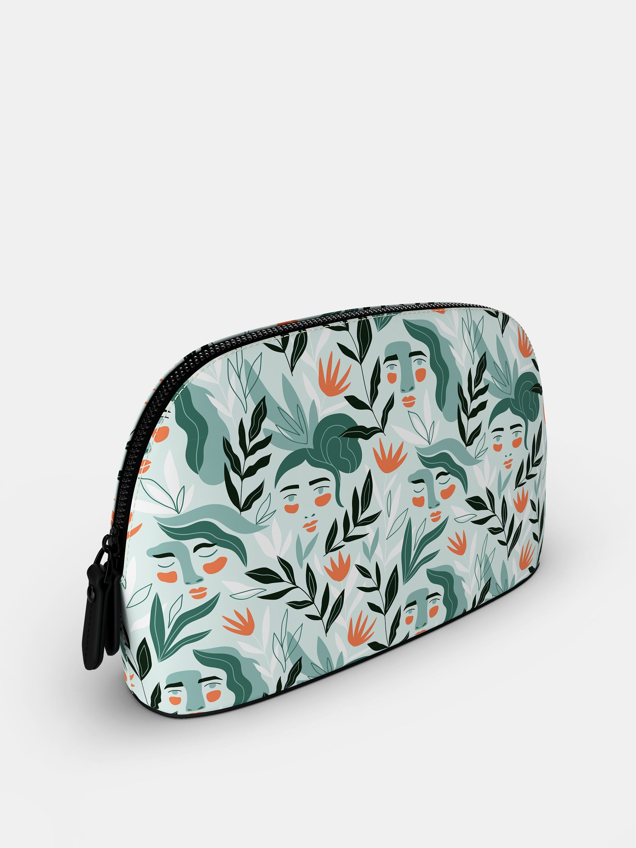bedrukte beauty bag