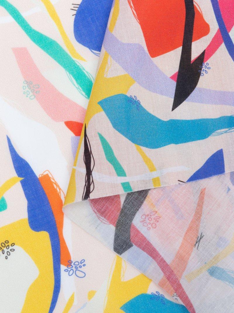 Pima bomullstyg med mönster