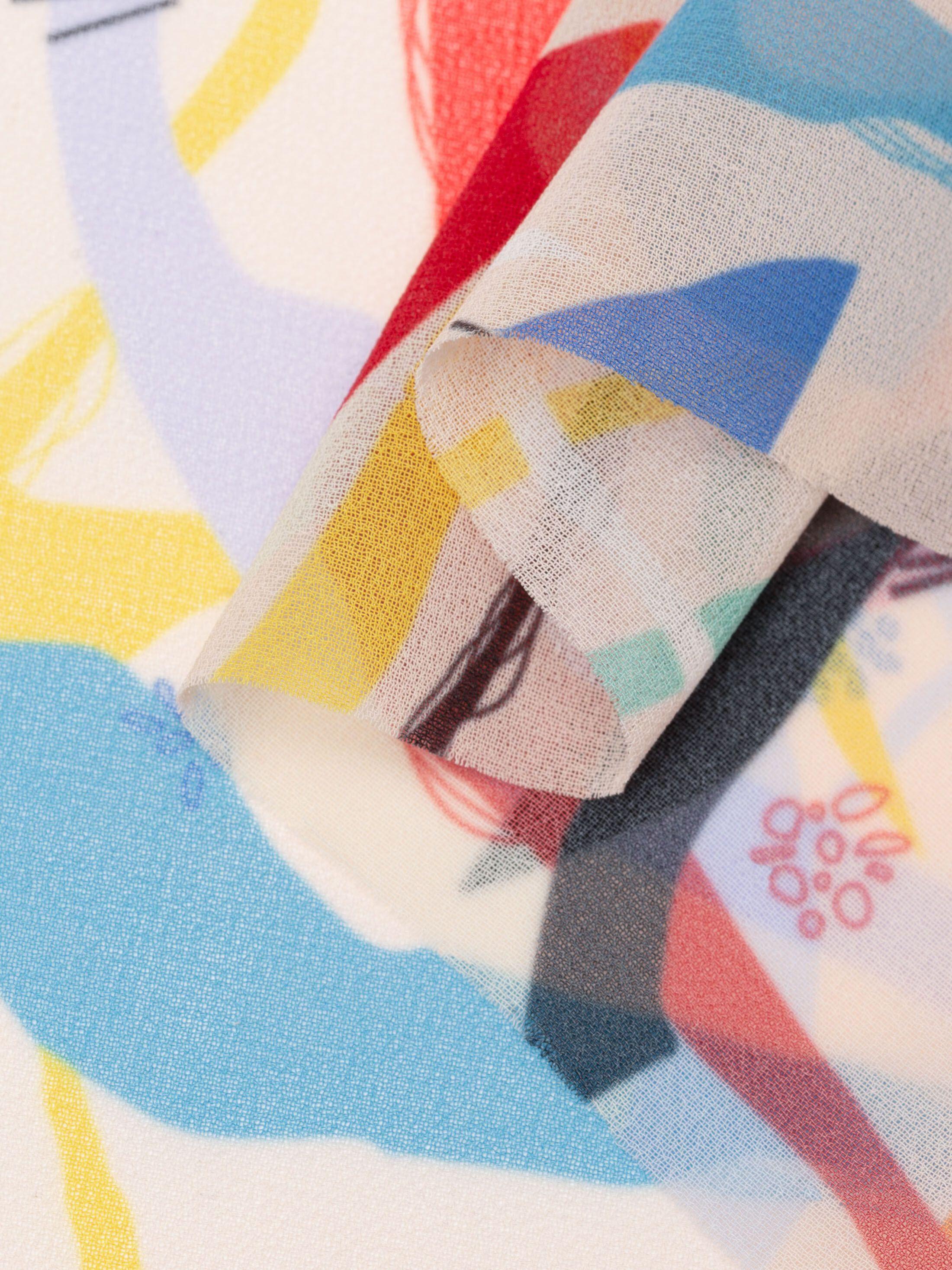 ポリ・ジョーゼットへの布印刷