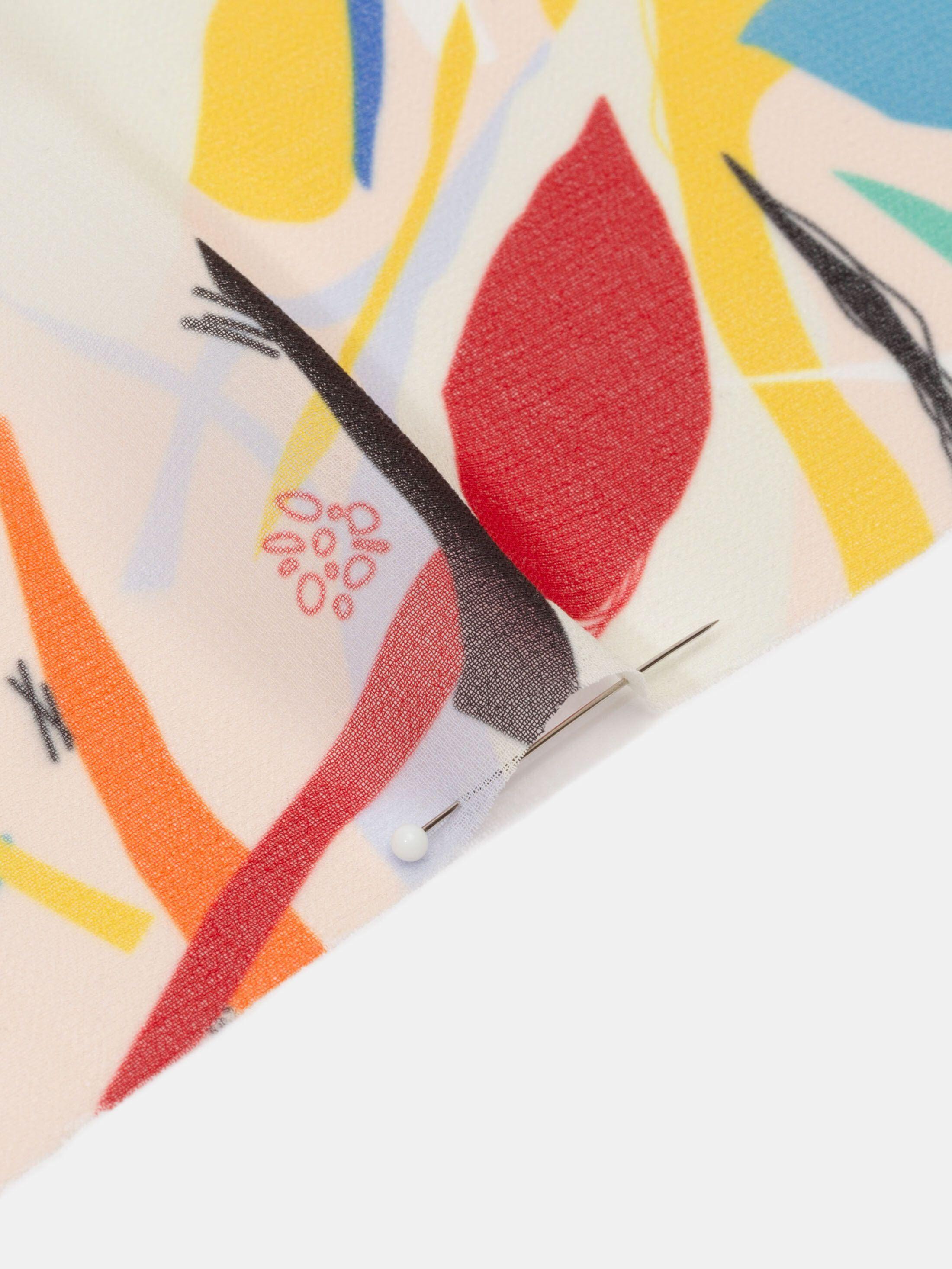 Imprimez ce magnifique tissu crêpe polyester