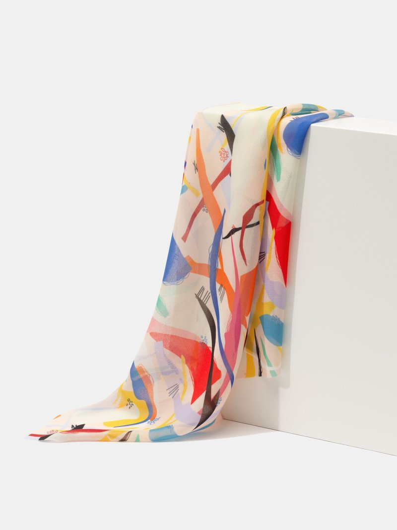 Tissu crêpe imprimé